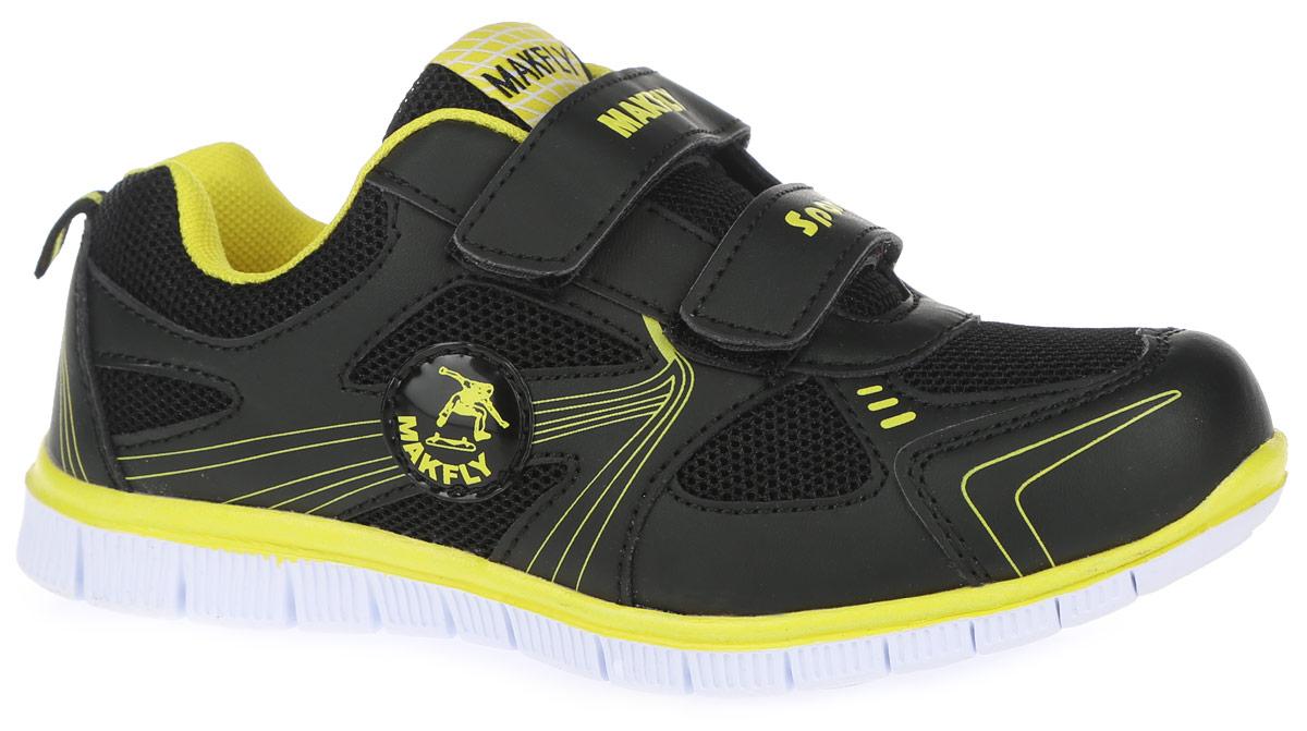 Кроссовки05-326-101Оригинальные кроссовки от MakFly понравятся вашему мальчику с первого взгляда. Кроссовки изготовлены из качественной искусственной кожи со вставками из сетчатого текстиля. Модель оформлена оригинальным принтом и нашивкой с логотипом бренда. Язычок оформлен нашивкой с названием бренда. На ноге модель фиксируется с помощью удобных ремешков на застежках- липучках, которые оформлены надписями MakFly и Sport. Мягкий манжет предотвращает натирание ножки ребенка. Ярлычок на заднике облегчает надевание обуви. Подкладка и стелька выполнены из качественного сетчатого текстиля, обеспечивающего комфорт при движении. Подошва выполнена из легкого и гибкого ЭВА- материала. Рифление подошвы гарантирует отличное сцепление с любой поверхностью. Такие яркие кроссовки займут достойное место в гардеробе вашего сына.