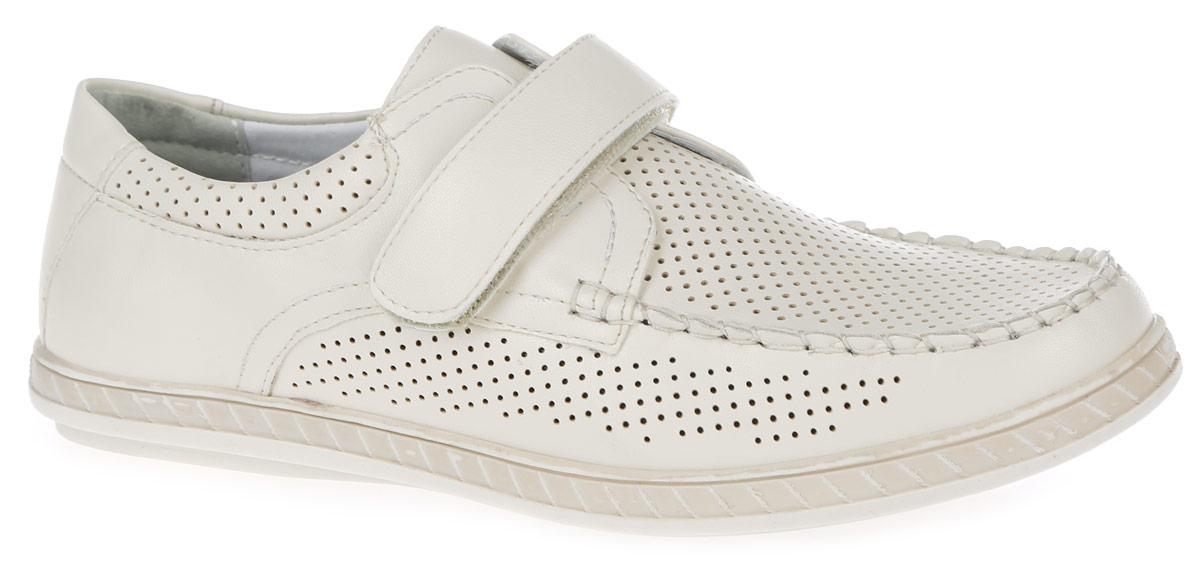 Туфли8963-8Туфли от Kapika придутся по душе вашему сыну! Туфли выполнены из качественной искусственной кожи. Модель оформлена прошивкой на носовой части и перфорацией для лучшей воздухопроницаемости. На ноге модель фиксируется с помощью удобного ремешка на застежке- липучке. Подкладка изготовлена из натуральной комбинированной кожи, комфортной при движении. Стелька, выполненная из натуральной кожи, дополнена супинатором с перфорацией, который обеспечивает правильное положение стопы ребенка при ходьбе и предотвращает плоскостопие. Анатомическая стелька обеспечивает воздухопроницаемость, отличную амортизацию, сохранение комфортного микроклимата обуви, эффективное поглощение влаги и неприятных запахов. Подошва изготовлена из легкого и гибкого ТЭП-материала. Рифленая поверхность подошвы обеспечит отличное сцепление с любой поверхностью. Такие стильные туфли подойдут как для школы, так и для официальных мероприятий.