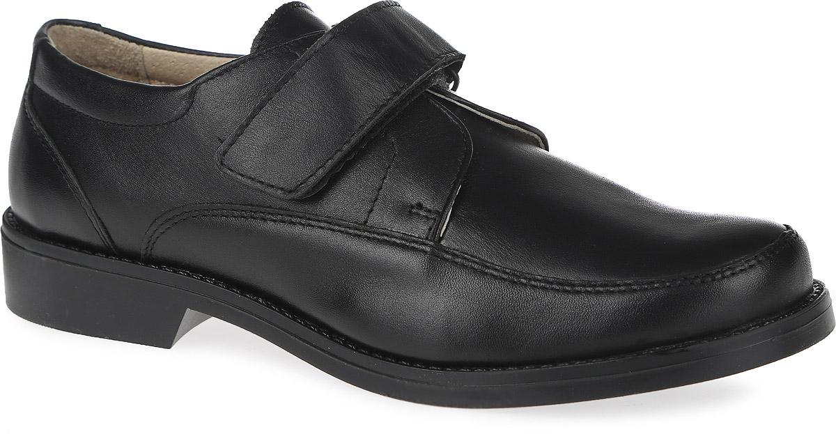 Туфли для мальчика. 10783-110783-1Стильные туфли от фирмы Зебра отлично подойдут для школы! Модель изготовлена из натуральной кожи и оформлена прострочкой. Ремешок на застежке-липучке надежно зафиксирует модель на ноге. Подкладка, выполненная из натуральной кожи, создает комфорт при носке. Стелька из натуральной кожи дополнена супинатором с перфорацией, который обеспечивает правильное положение ноги ребенка при ходьбе, предотвращает плоскостопие. Рифленая поверхность подошвы защищает изделие от скольжения. Удобные туфли - незаменимая вещь в гардеробе каждого ребенка.