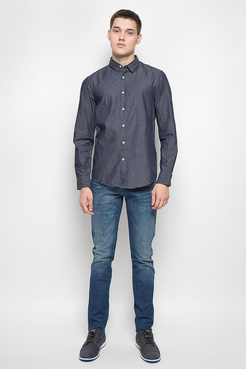 РубашкаMX3000741Стильная мужская рубашка Mexx приталенного кроя, изготовленная из натурального хлопка, необычайно мягкая и приятная на ощупь, не сковывает движения и позволяет коже дышать. Застегивается на пуговицы по всей длине. Эта рубашка идеальный вариант, как для повседневного, так и для вечернего гардероба. Такая модель порадует настоящих ценителей комфорта и практичности.