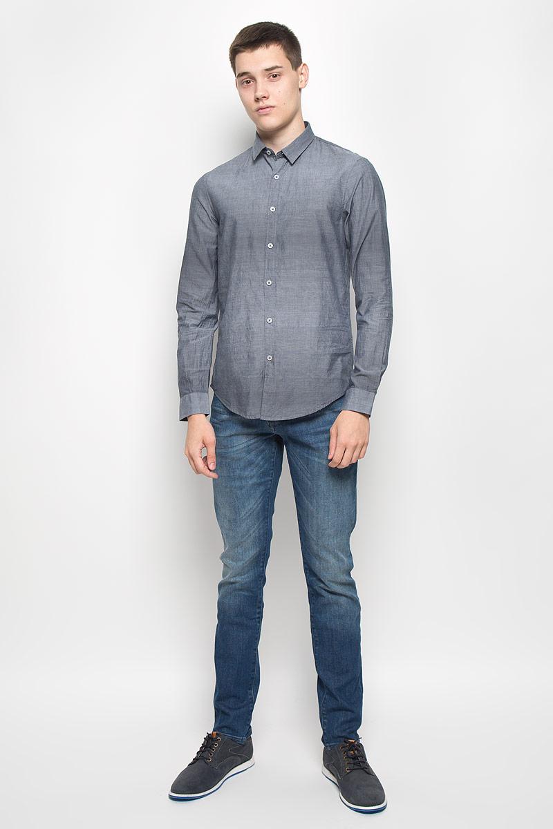 MX3000743_MN_SHG_006Мужская рубашка Mexx, выполненная из натурального хлопка, идеально дополнит ваш образ. Материал мягкий и приятный на ощупь, не сковывает движения и позволяет коже дышать. Рубашка с длинными рукавами и отложным воротником застегивается на пуговицы по всей длине. На манжетах предусмотрены застежки-пуговицы. Такая модель будет дарить вам комфорт в течение всего дня и станет стильным дополнением к вашему гардеробу.