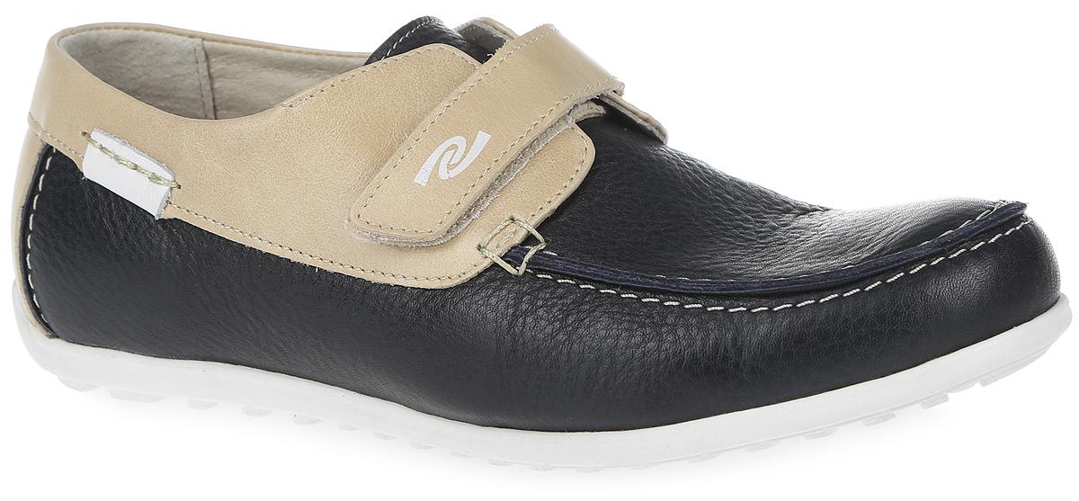 Мокасины для мальчика. 10211-510211-5Удобные мокасины от фирмы Зебра покорят вашего юного модника с первого взгляда! Модель выполнена из натуральной кожи и оформлена на мысе декоративным внешним швом. Ремешок на застежке-липучке, расположенный на подъеме, обеспечивает надежную фиксацию обуви на ноге. Внутренняя поверхность изготовлена из натуральной кожи. Стелька EVA с верхним покрытием из натуральной кожи дополнена супинатором, что обеспечивает правильное положение ноги ребенка при ходьбе, предотвращает плоскостопие. Подошва с рифлением обеспечивает идеальное сцепление с любыми поверхностями. Стильные мокасины займут достойное место в гардеробе вашего мальчика.