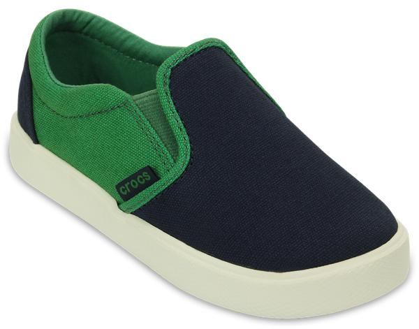203520-0BUСтильные детские кеды CitiLane Slip-on Sneaker от Crocs созданы специально для маленьких непосед. Верх модели выполнен из плотного текстиля, а подошва - из полимера Croslite. Благодаря материалу Croslite обувь невероятно легкая, мягкая и удобная. Материал Croslite - бактериостатичен, препятствует появлению неприятных запахов и легок в уходе: быстро сохнет и не оставляет следов на любых поверхностях. Эти кеды легко надевать и снимать благодаря эластичным вставкам по бокам. Рифленое основание подошвы гарантирует идеальное сцепление с любой поверхностью.