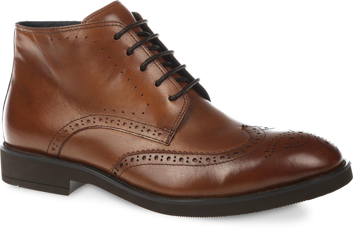 Ботинки мужские. M23509M23509Классические мужские боги от VITACCI займут достойное место в вашей коллекции. Модель выполнена из натуральной кожи. Изделие оформлено «закрытой» шнуровкой и дополнено молнией на боковой стороне, что способствует надежной фиксации обуви на ноге. Подкладка и стелька из ворсина защитят ноги от холода и обеспечат комфорт. Стильные броги отлично подойдут к любому образу и дополнят вашу коллекцию.