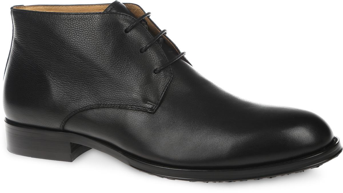 M23581Классические мужские ботинки от VITACCI займут достойное место в вашей коллекции. Модель выполнена из натуральной кожи. Изделие оформлено шнуровкой, что способствует надежной фиксации обуви на ноге. Подкладка и стелька из натуральной кожи обеспечат комфорт и уют ногам, предотвратят натирание. Стильные ботинки отлично подойдут к любому образу и дополнят вашу коллекцию.