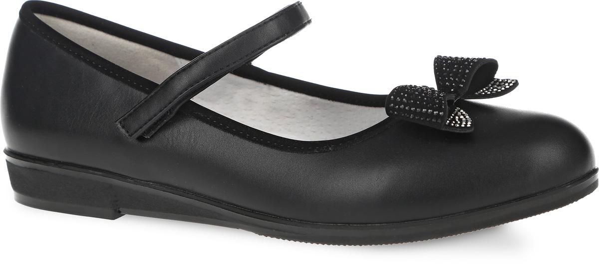 Туфли для девочки. 11162-111162-1Очаровательные туфли от фирмы Зебра придутся по душе маленькой принцессе! Верх модели изготовлен из искусственной кожи. Внутренняя поверхность туфель выполнена из натуральной кожи. Мыс украшен бантом, декорированным стразами. Профилированная стелька из ЭВА с верхней поверхностью из натуральной кожи дополнена супинатором с перфорацией. Она разработана с учетом анатомических особенностей строения детской ноги. Стелька обеспечивает наилучшую поддержку стопы и защиту от развития плоскостопия, гарантирует ногам ребенка ощущение комфорта и легкости при ходьбе, уменьшает усталость. Такие туфли займут достойное место в гардеробе каждой девочки!