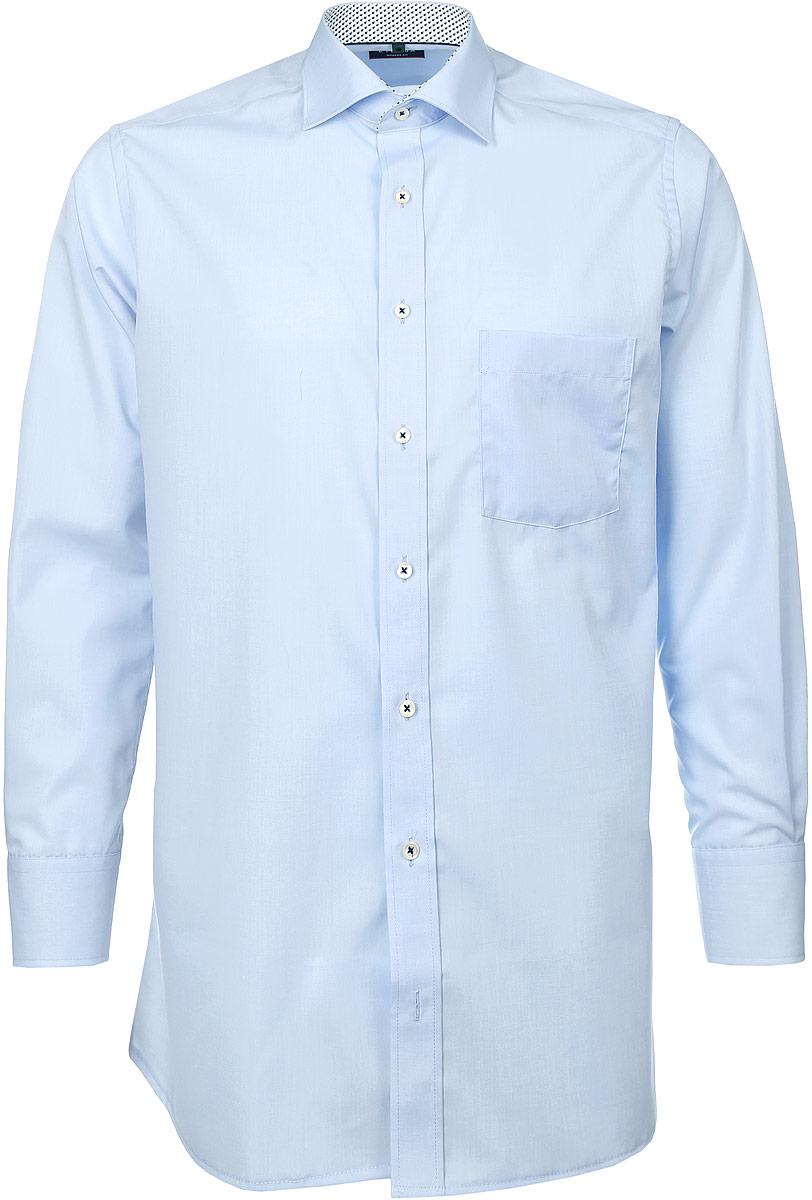 Рубашка8500_00_X37R_38-46_59Стильная мужская рубашка Eterna, выполненная из натурального хлопка, подчеркнет ваш уникальный стиль и поможет создать оригинальный образ. Такой материал великолепно пропускает воздух, обеспечивая необходимую вентиляцию, а также обладает высокой гигроскопичностью. Рубашка с длинными рукавами и отложным воротником застегивается на пуговицы спереди. Манжеты рукавов также застегиваются на пуговицы. Изделие дополнено накладным нагрудным карманом. Классическая рубашка - превосходный вариант для базового мужского гардероба и отличное решение на каждый день. Такая рубашка будет дарить вам комфорт в течение всего дня и послужит замечательным дополнением к вашему гардеробу.