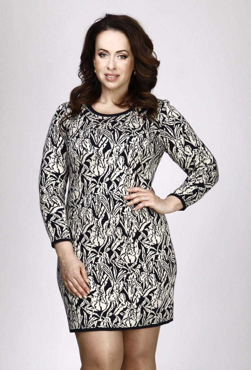 937Яркое вязаное платье Milana Style поможет создать оригинальный женственный образ. Благодаря составу, в который входят шерсть и акрил, платье очень приятное на ощупь, не сковывает движений, обеспечивая комфорт. Модель с круглым вырезом горловины и длинными рукавами украшена оригинальным цветочным орнаментом. Вырез горловины, низ рукавов и низ изделия связаны резинкой. Такое платье станет модным и стильным дополнением к вашему гардеробу!
