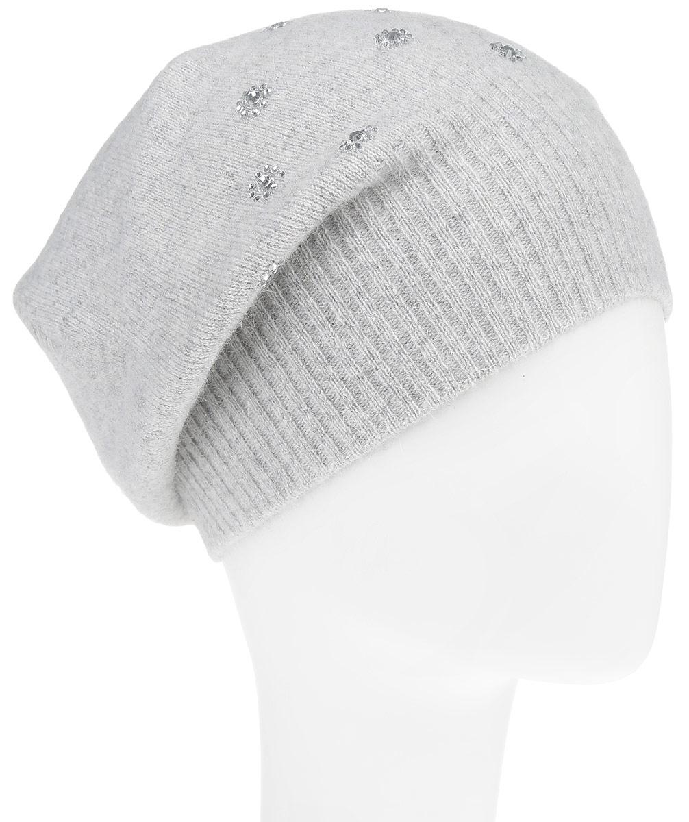 Шапка женская. B346547B346547Стильная шапка Baon - отличное решение для прогулок в прохладное время года. Шапка изготовлена из шерсти с добавлением ангора. Модель оформлена стразами. Шапка легкая, приятная на ощупь и отлично защищает от холода.