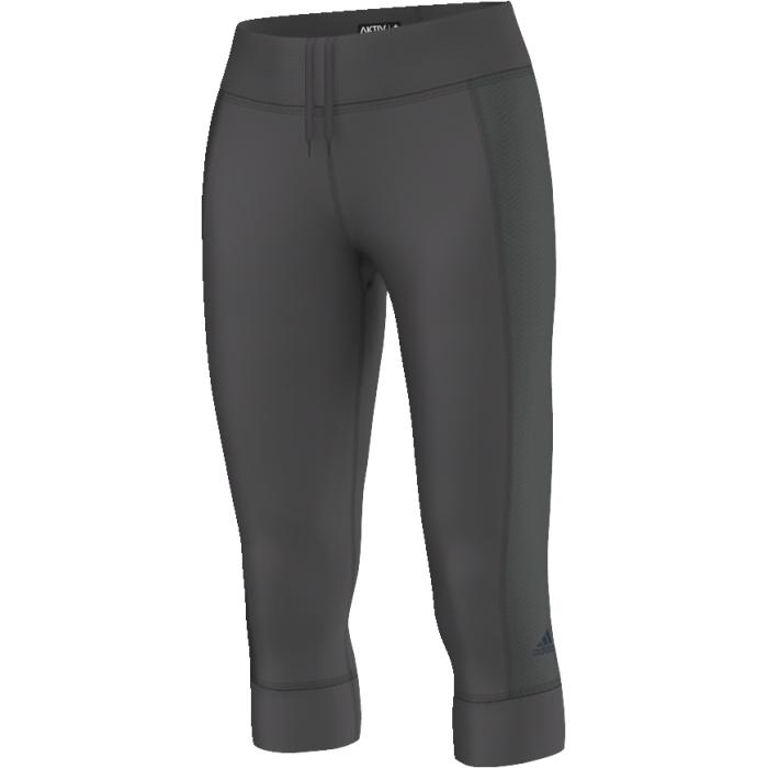 AX5893Удобные женские тайтсы Adidas Ak 3/4 Tghts W для бега изготовлены из высококачественного эластичного материала, они великолепно тянутся, не сковывают движения, обеспечивают необходимую циркуляцию воздуха и превосходно отводят влагу от тела, оставляя кожу сухой и обеспечивая наибольший комфорт.