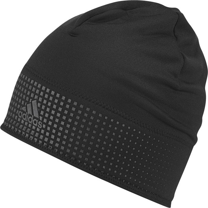 Шапка с логотипомS94117Шапка-бини для бега Adidas Climaheat выполнена из легкого материала и обеспечивает ощущение сухости и тепла. В этой шапке вы сможете комфортно тренироваться даже в холодную погоду. Ткань с технологией climalite быстро и эффективно отводит влагу с поверхности кожи, поддерживая комфортный микроклимат. Светоотражающие детали.