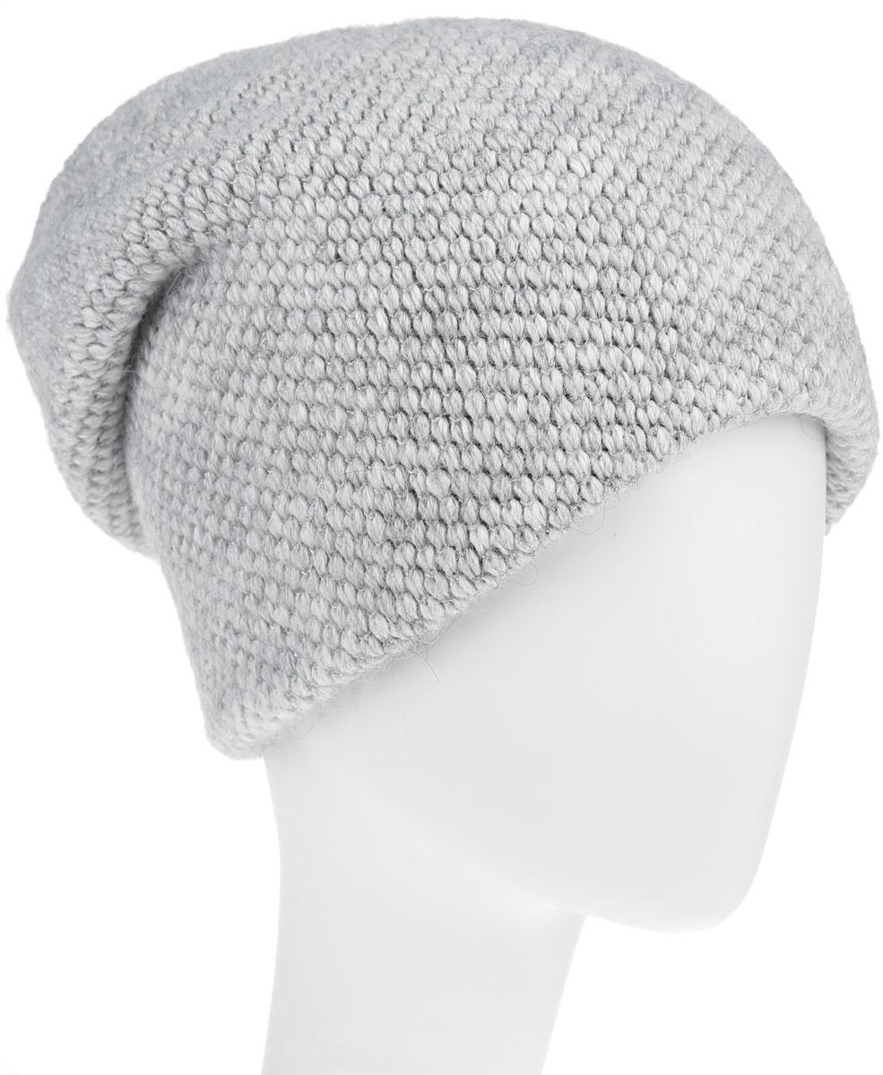 Шапка женская. B346525B346525_SILVER MELANGEСтильная женская шапка Sela дополнит ваш наряд и не позволит вам замерзнуть в холодное время года. Шапка выполнена из высококачественной пряжи, что позволяет ей великолепно сохранять тепло и обеспечивает высокую эластичность и удобство посадки. Удлиненное изделие оформлено небольшой металлической пластиной с названием бренда и дополнена блестящими серебристыми нитями. Такая шапка составит идеальный комплект с модной верхней одеждой, в ней вам будет уютно и тепло.