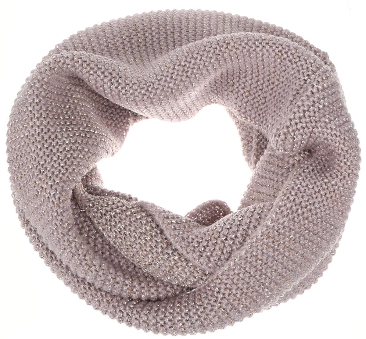 Снуд-хомут женский. SC-142/046H-6302SC-142/046H-6302Стильный снуд-хомут Sela, выполненный из акрила и люрекса, создан подчеркнуть ваш неординарный вкус и согреть вас в прохладное время года. Снуд-хомут можно носить на голове, на шее и груди. Высокое качество материала максимально сохраняет тепло и обеспечивает удобную посадку. Модель отличается невероятной легкостью и мягкостью. Этот модный аксессуар гармонично дополнит образ современной женщины, которая стремится всегда оставаться стильной и элегантной.