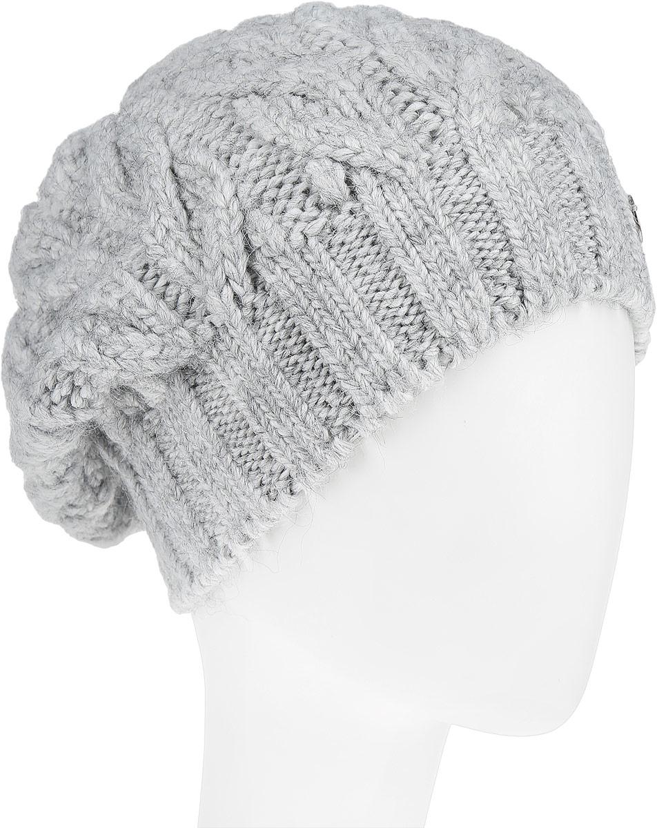 Шапка женская. B346526B346526Вязаная женская шапка Baon отлично подойдет для модниц в холодное время года. Она мягкая и приятная на ощупь, обладает хорошими дышащими свойствами и максимально удерживает тепло. Изделие оформлено крупным вязаным узором, а также дополнено небольшой металлической пластиной. Такой стильный и теплый аксессуар подчеркнет ваш образ и индивидуальность!