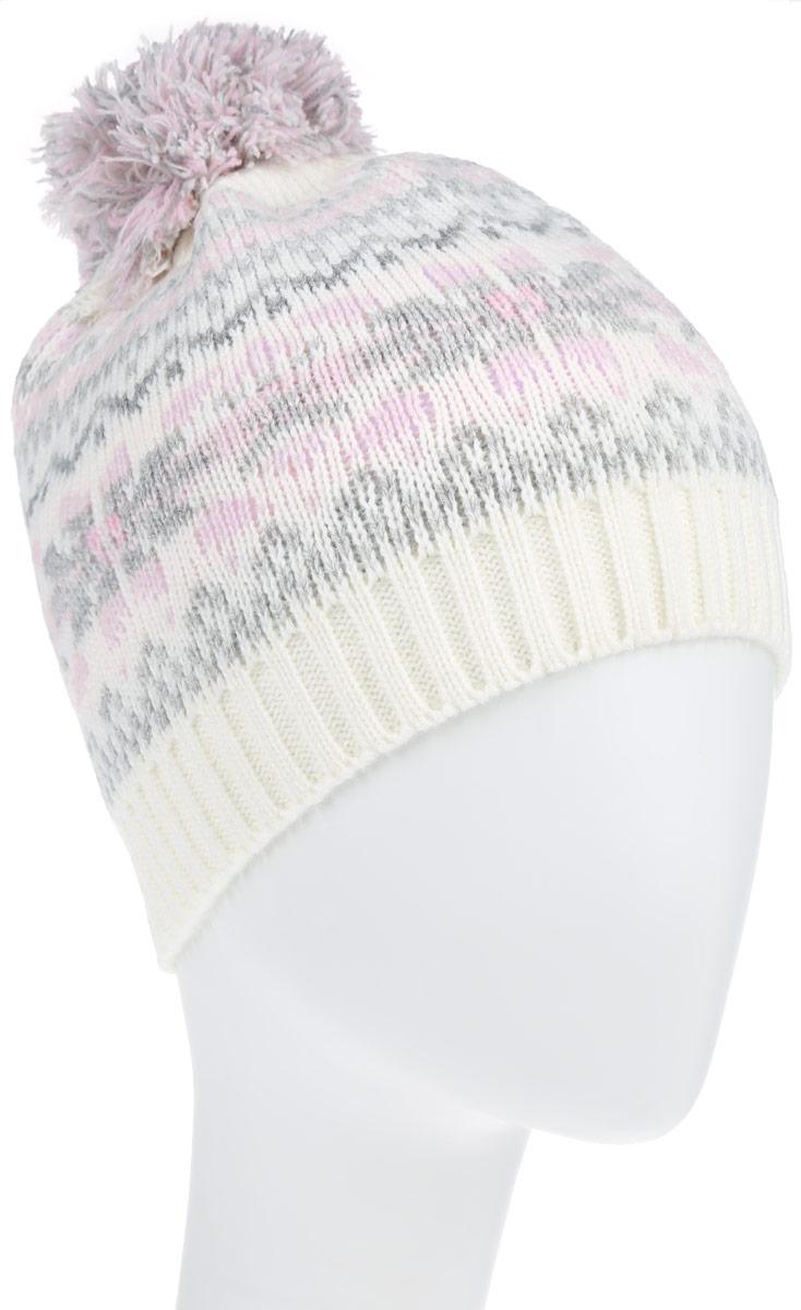 HAk-641/011AF-6303Стильная теплая детская шапка Sela идеально подойдет для прогулок в холодное время года. Шапочка выполнена из натуральной акриловой пряжи с добавлением шерсти. Максимально сохраняет тепло и идеально прилегает к голове. Шапка оформлена стильным оригинальным узором и небольшим пушистым помпоном. Такая шапка станет модным и стильным дополнением гардероба вашего малыша. Она поднимет ему настроение даже в самые морозные дни!