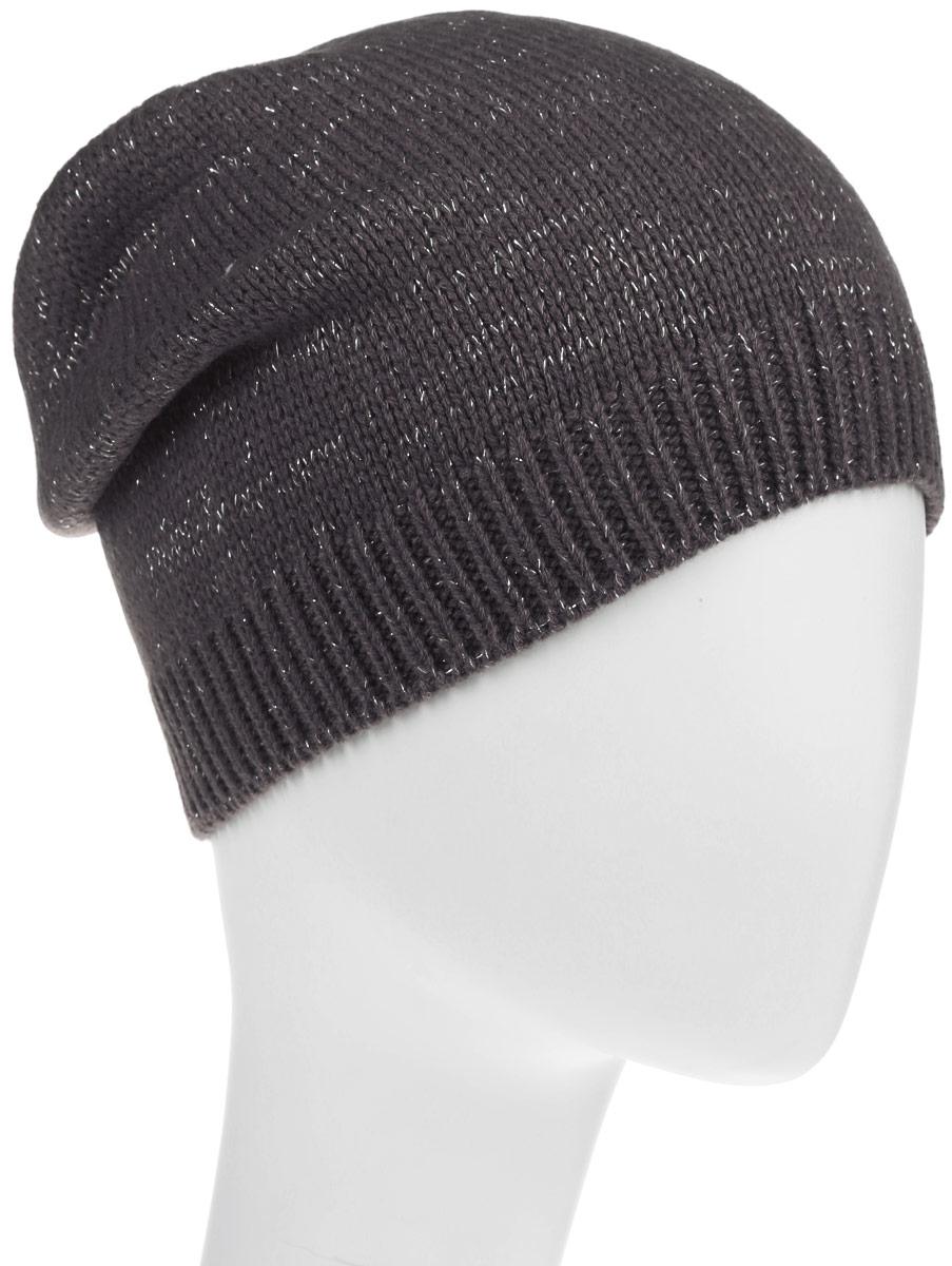 Шапка женская. HAk-141/016-6302HAk-141/016-6302Стильная шапка Sela идеально подойдет для прогулок в прохладное время года. Шапка мелкой вязки изготовлена из мягкой высококачественной пряжи, она обладает хорошими дышащими свойствами и отлично удерживает тепло. Модель дополнена серебристым люрексом и оформлена вязаной резинкой, вокруг головы. Такая шапка станет модным и стильным дополнением вашего зимнего гардероба. Она поднимет вам настроение даже в самые морозные дни!