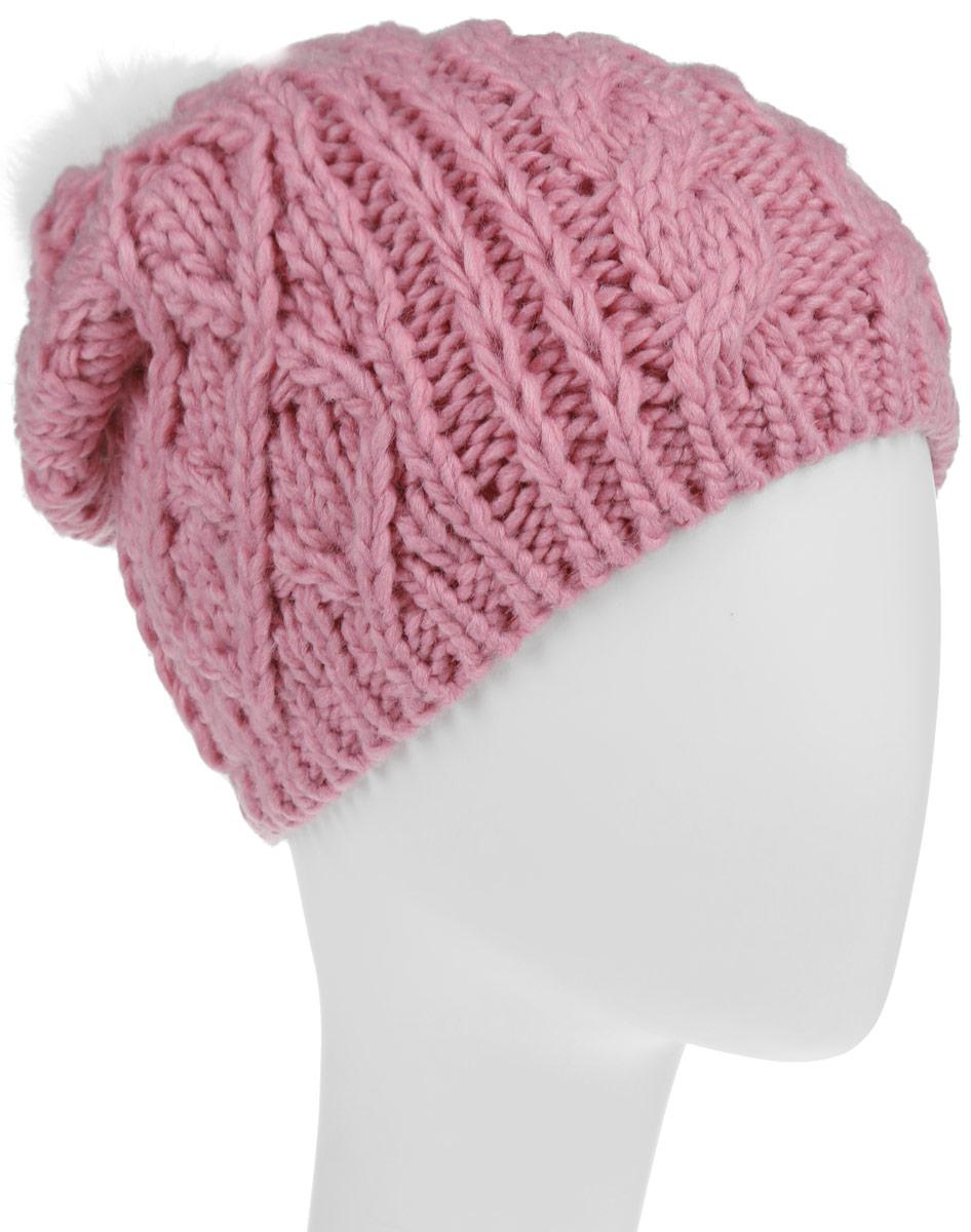HAk-641/016-6303Вязаная шапка Sela для девочек станет идеальным дополнением к вашему образу в холодную погоду. Изделие приятное на ощупь, максимально сохраняет тепло. Благодаря эластичной вязке, модель идеально прилегает к голове. Оформлено изделие крупным вязаным узором и дополнено не большим меховым пушистым помпоном. Край шапки связан резинкой. Внутри - флисовая подкладка. Такой стильный и теплый аксессуар подчеркнет вашу индивидуальность. Шапка надежно защитит от холода и создаст ощущение комфорта.