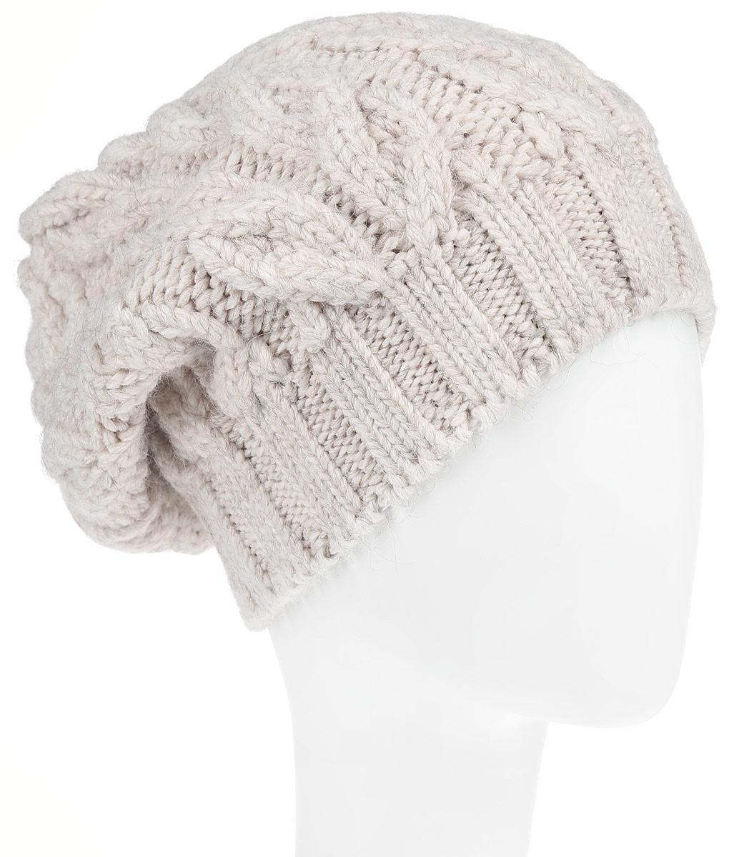 Шапка женская. B346526B346526_SILVER MELANGEВязаная женская шапка Baon отлично подойдет для модниц в холодное время года. Она мягкая и приятная на ощупь, обладает хорошими дышащими свойствами и максимально удерживает тепло. Изделие оформлено крупным вязаным узором, а также дополнено небольшой металлической пластиной. Такой стильный и теплый аксессуар подчеркнет ваш образ и индивидуальность!