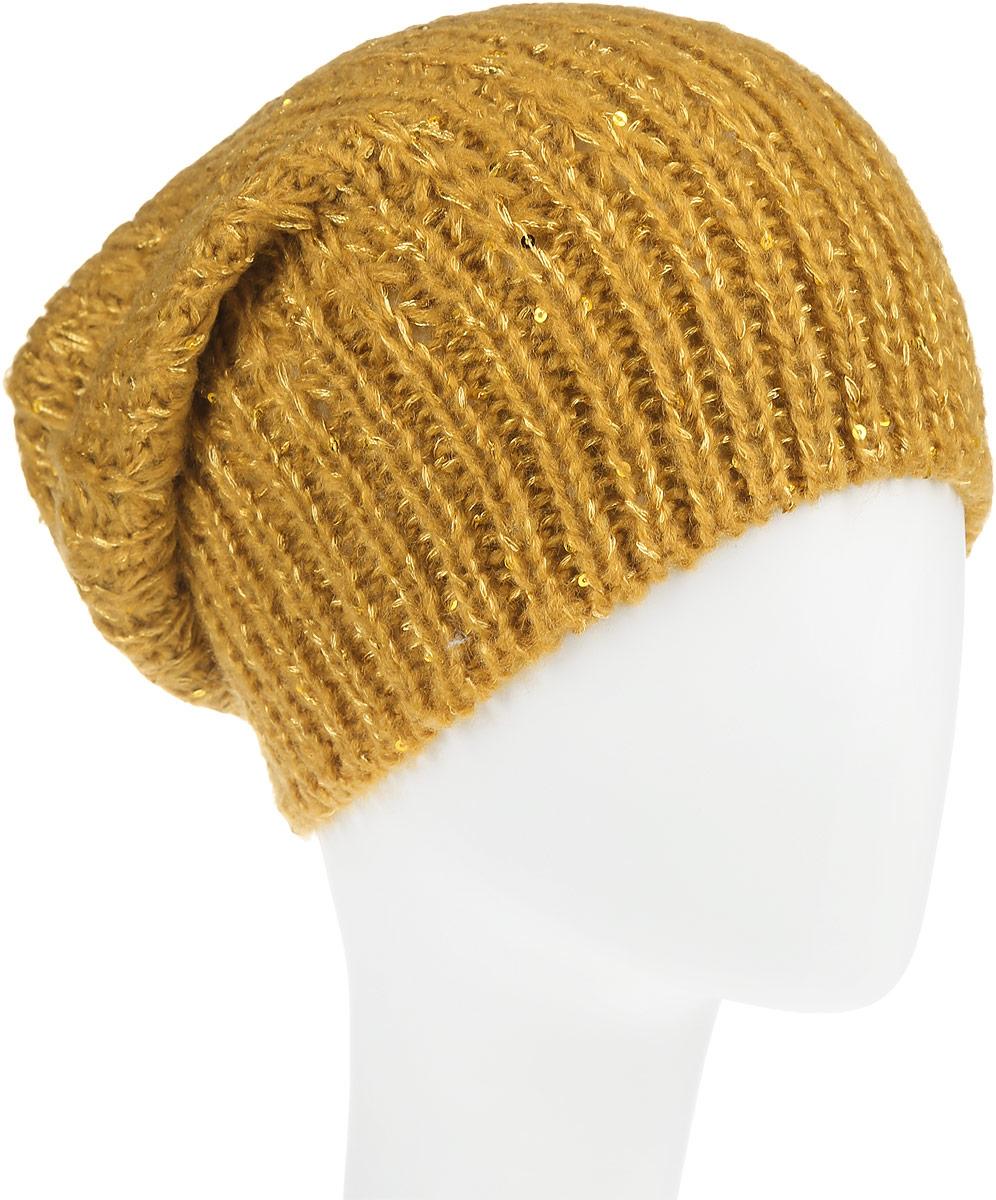 ШапкаHAk-141/313-6302Вязаная женская шапка Sela отлично подойдет для модниц в холодное время года. Она мягкая и приятная на ощупь, обладает хорошими дышащими свойствами и максимально удерживает тепло. Изделие оформлено оригинальным вязаным узором и дополнена пайетками. Такой стильный и теплый аксессуар подчеркнет ваш образ и индивидуальность.