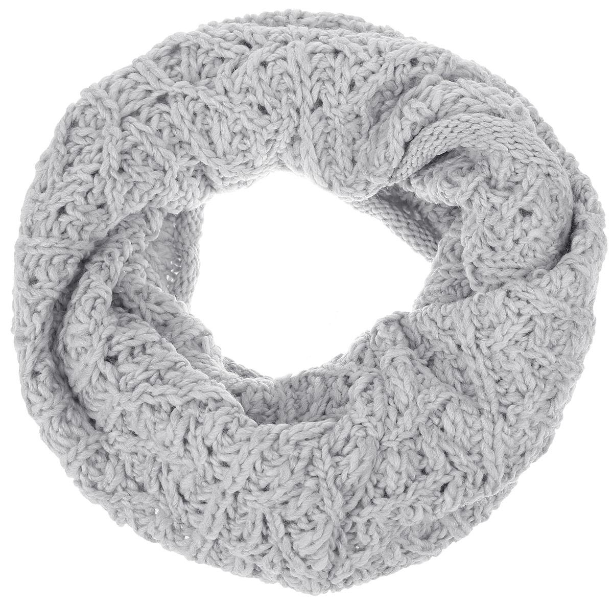 Снуд-хомут женский. B325B325_CACTUSСтильный вязаный снуд-хомут Baon идеально подойдет для прогулок в холодное время года. Он обладает хорошими дышащими свойствами и хорошо удерживает тепло. Такой шарф станет модным и стильным предметом вашего гардероба. Он улучшит настроение даже в хмурые холодные дни.