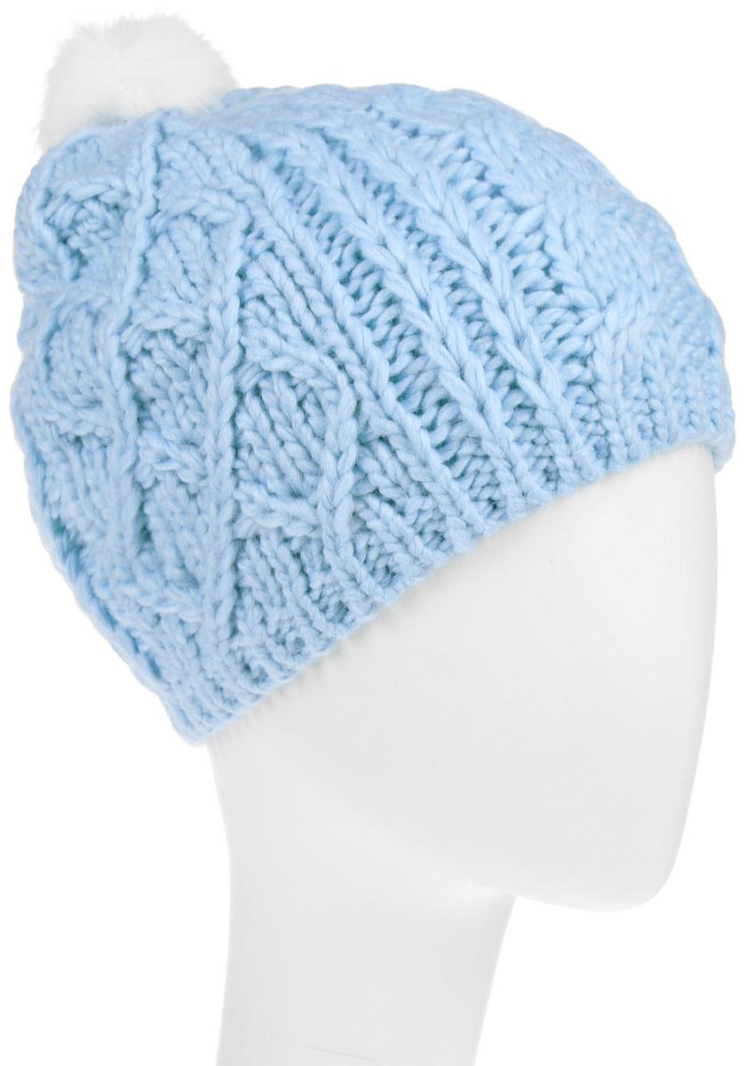 Шапка детскаяHAk-641/016-6303Вязаная шапка Sela для девочек станет идеальным дополнением к вашему образу в холодную погоду. Изделие приятное на ощупь, максимально сохраняет тепло. Благодаря эластичной вязке, модель идеально прилегает к голове. Оформлено изделие крупным вязаным узором и дополнено не большим меховым пушистым помпоном. Край шапки связан резинкой. Внутри - флисовая подкладка. Такой стильный и теплый аксессуар подчеркнет вашу индивидуальность. Шапка надежно защитит от холода и создаст ощущение комфорта.