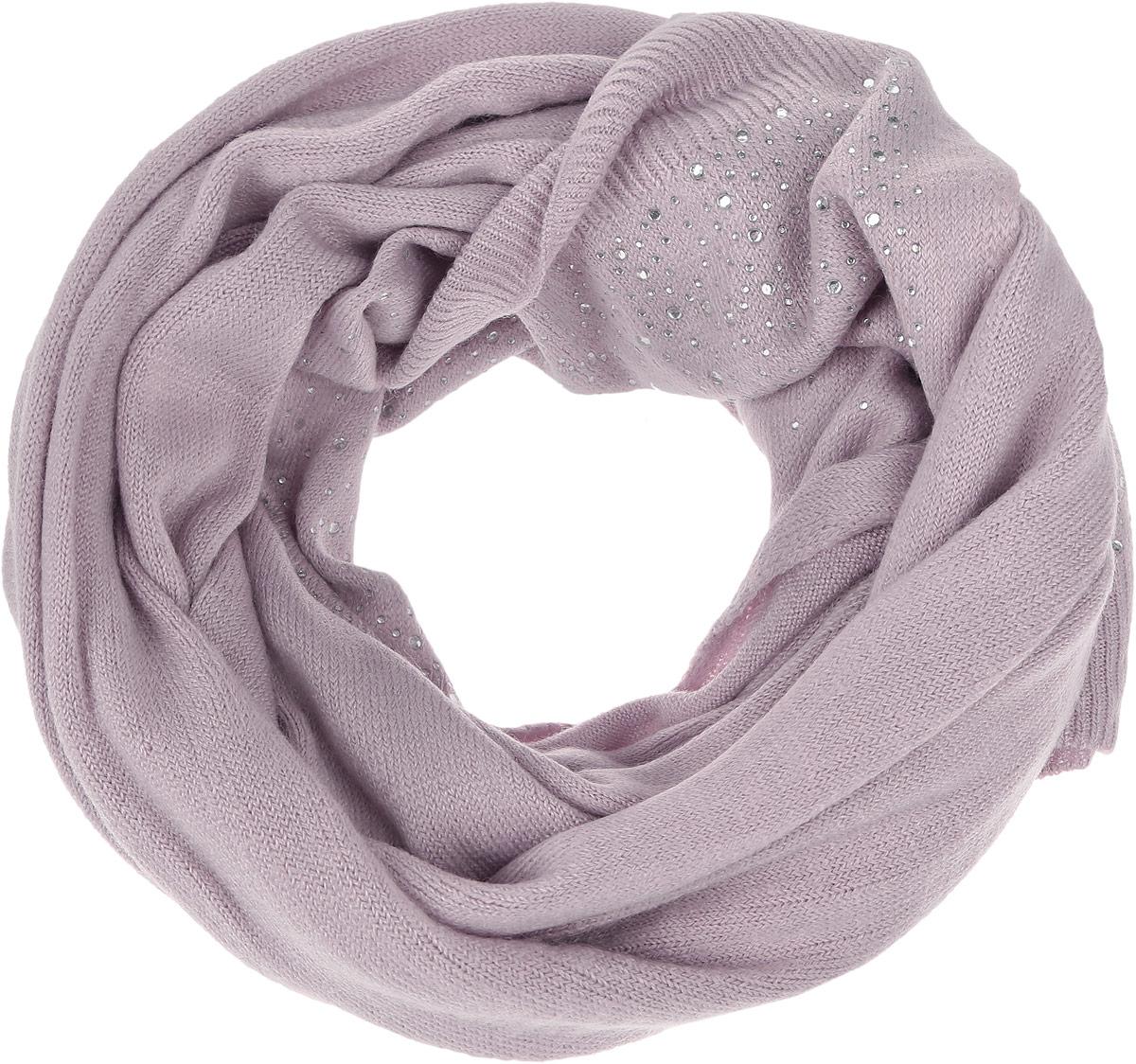 ШарфSC-142/444J-6302Стильный шарф Sela идеально подойдет для прогулок в холодное время года. Он обладает хорошими дышащими свойствами и хорошо удерживает тепло. Дополнен красивыми стразами. Такой шарф станет модным и стильным предметом вашего гардероба. Он улучшит настроение даже в хмурые холодные дни.