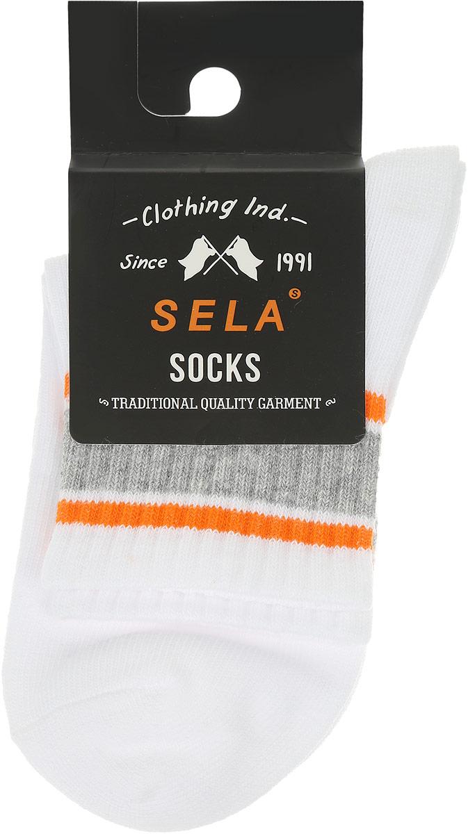 НоскиSOb-7854/027-6302Носки для мальчика Sela, изготовленные из высококачественного материала, станут отличным дополнением к детскому гардеробу. Эластичная резинка мягко облегает ножку, не сдавливая ее, обеспечивая комфорт при носке. Изделие оформлено полосками контрастного цвета. Уважаемые клиенты! Размер, доступный для заказа, является длиной стопы.