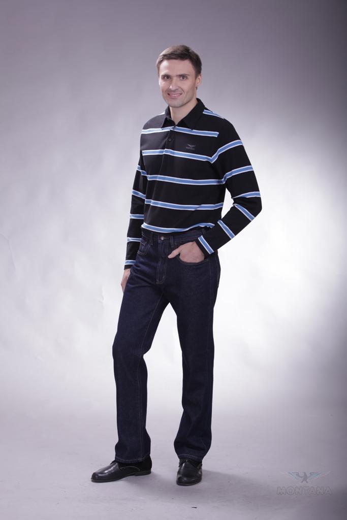 Брюки мужские. 1006410064 RWКлассические джинсы из плотного денима темно-синего цвета ,прошиты контрастной ниткой ,со временем цвет не выстирывается, посадка - выше средней , пять карманов,застежка на молнии и пуговице,фурнитура оригинальная MONTANA, срок носки от пяти до пятнадцати сезонов.