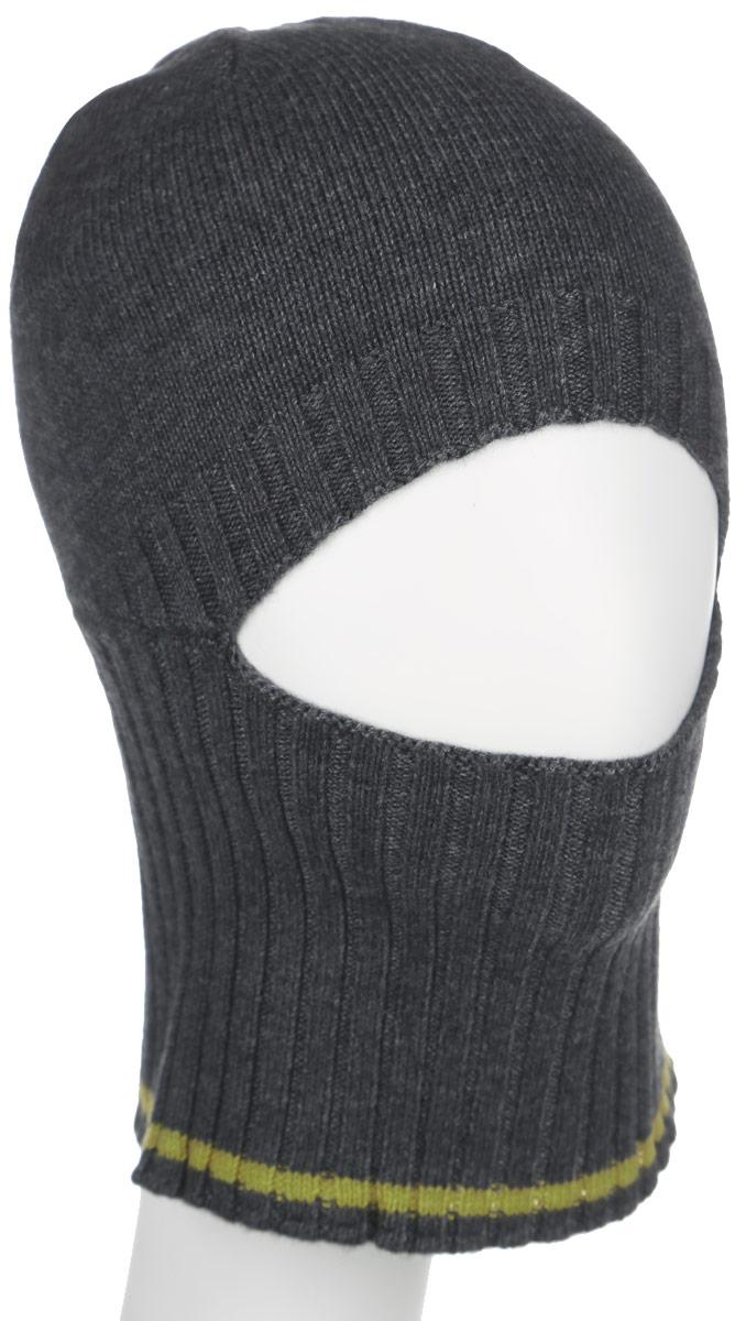 Шапка для мальчика. HAk-841/098-6302HAk-841/098-6302Стильная шапка Sela для мальчика дополнит наряд и не позволит замерзнуть в холодное время года. Шапка выполнена из высококачественной пряжи, что позволяет ей великолепно сохранять тепло и обеспечивает высокую эластичность и удобство посадки. Удлиненное изделие оформлено больной вязанной резинкой. Посередине имеется вырез для глаз и носа. Это изделие поможет скрыть нежное детское лицо от ветра и холода. Такая шапка составит идеальный комплект с модной верхней одеждой, в ней вам будет уютно и тепло.