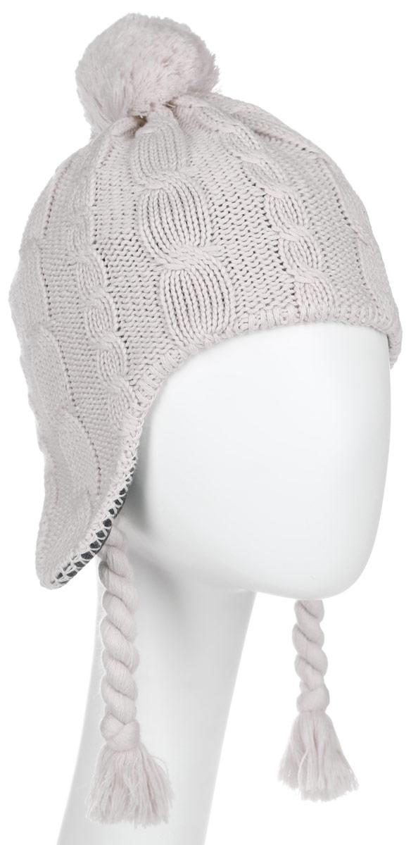 Шапка женская. 1905081-60001905081-1165Вязаная шерстяная шапка с согревающей флисовой внутренней стороной. На улице сохраняет уши в тепле: для вязаной шапки STORMLOCK POMPOM использовалась комбинация из шерсти и флиса. Внешний материал из натуральной шерсти скомбинирован с синтетическим волокном, поэтому он особенно хорошо согревает и быстро высыхает. Внутри очень теплый флис обеспечивает приятное ощущение комфорта, когда вы путешествуете в холодную погоду. Кроме того, материал ветронепроницаемый и дышащий, поэтому защищает голову от холода. Модель выполнена крупным вязанным узором, ушки шапки немного удлинены и оформлены декоративными канатиками. Верх шапки дополнен пушистым помпоном. Шапка не только теплый головной убор, но и изящный аксессуар. Она подчеркнет ваш стиль и индивидуальность!