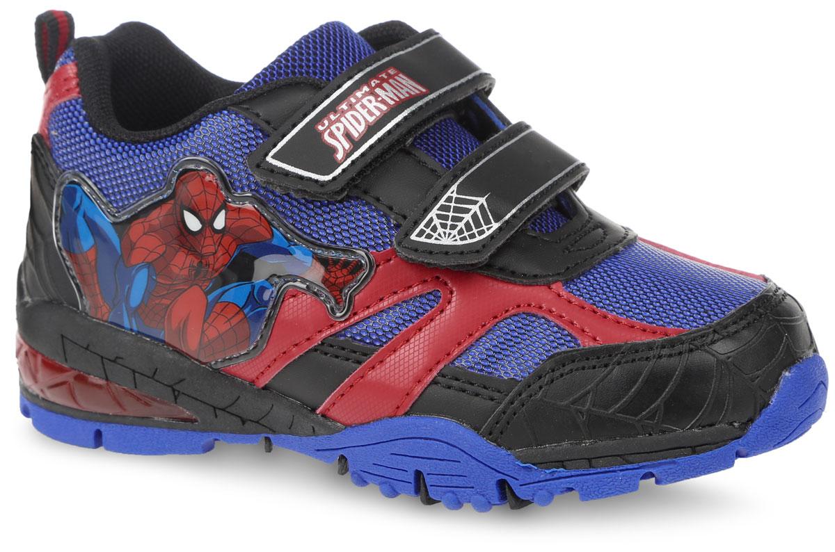 Кроссовки для мальчика. SP002755SP002755Кроссовки для мальчика от Mursu, выполненные в стилистике Marvel Ultimate Spider-Man, придутся по душе юному мечтателю. Модель изготовлена из текстиля со вставками из искусственной кожи, оформлена на ремешке фирменным логотипом. На боковой стороне расположен яркая нашивка с изображением Человека-паука. Ремешки с застежками-липучками надежно зафиксируют изделие на ноге. При ходьбе на подошве горят красные огоньки. Подкладка и стелька изготовлены из текстиля, что предотвращает натирание и гарантирует уют. Подошва с рифлением обеспечивает идеальное сцепление с любыми поверхностями. Такие чудесные кроссовки займут достойное место в гардеробе вашего ребенка.