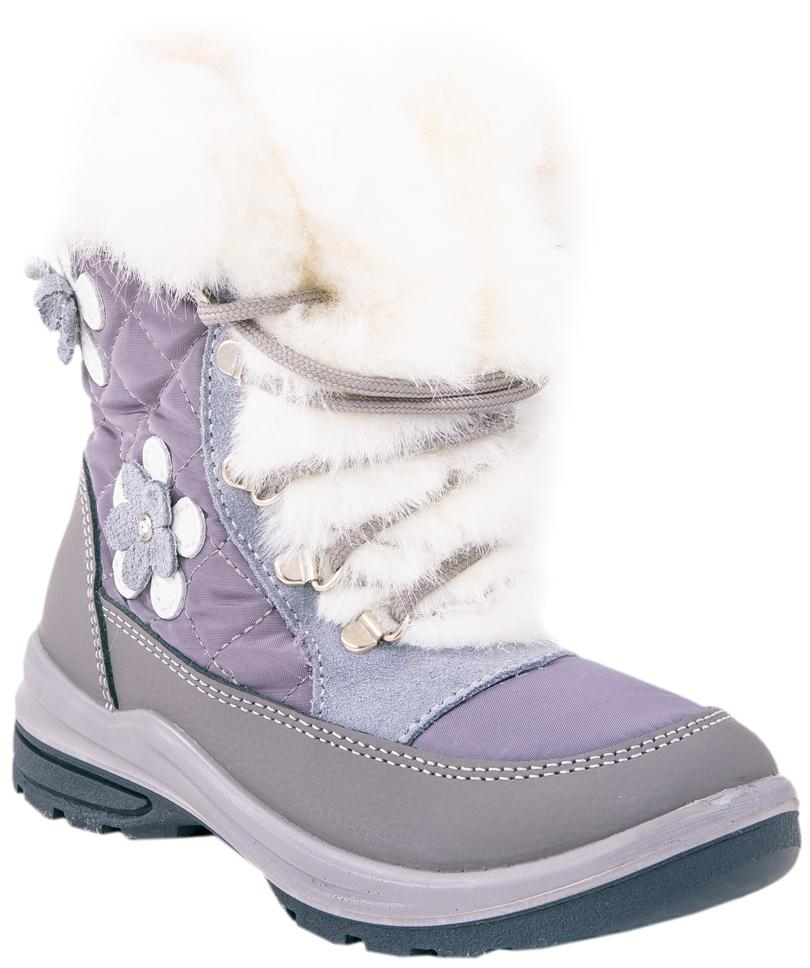 Сапоги464908-42Стильные сапоги для девочки от Котофей выполнены из плотного текстиля, натуральной и искусственной кожи. Подкладка и стелька из шерстяного меха не дадут ногам замерзнуть. Шнуровка надежно зафиксирует модель на ноге. Боковая застежка-молния позволяет легко снимать и надевать модель. Подошва дополнена рифлением.
