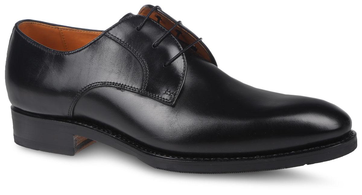 S610A81BK6Стильные туфли от Sandro G поразят вас своим дизайном и удобством. Модель выполнена из натуральной гладкой кожи. На ноге модель фиксируется с помощью классической удобной шнуровки. Внутренняя поверхность и стелька выполнены из натуральной мягкой кожи, которая не натирает, не деформирует стопу и позволяет коже дышать. Подошва, выполненная из натуральных материалов, дополнена небольшим удобным каблуком. Поверхность подошвы оформлена фирменной тисненой надписью. Такие модные и удобные туфли займут достойное место в вашем гардеробе.