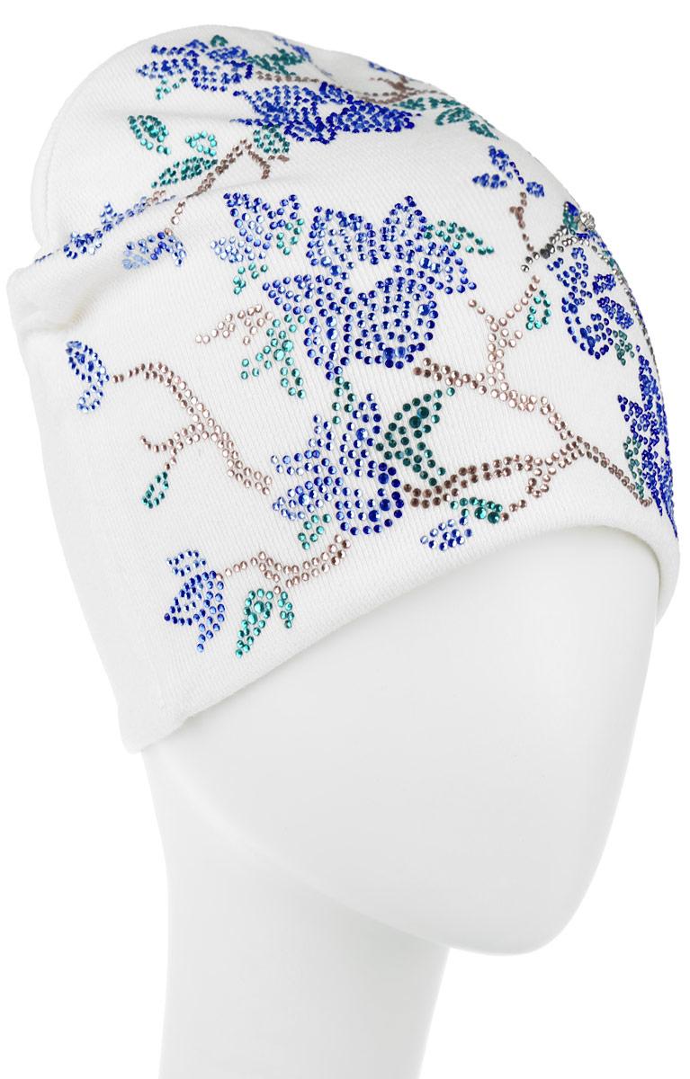 Шапка женская. 3891389109Стильная женская шапка Level Pro дополнит ваш наряд и не позволит вам замерзнуть в холодное время года. Шапка наполовину выполнена из шерсти с добавлением полиэстера , что позволяет ей великолепно сохранять тепло и обеспечивает высокую эластичность и удобство посадки. Внутренняя сторона модели трикотажная. Изделие оформлено оригинальным цветочным принтом с птичкой колибри, выполненным из блестящих страз. Такая шапка составит идеальный комплект с модной верхней одеждой, в ней вам будет уютно и тепло.