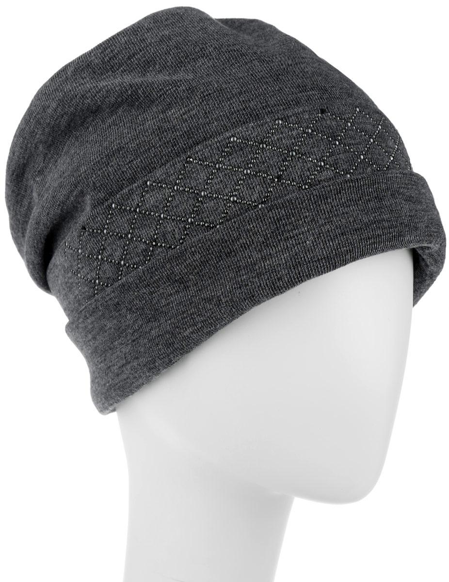 Шапка женская. 994374994374Стильная женская шапка Level Pro дополнит ваш наряд и не позволит вам замерзнуть в холодное время года. Шапка наполовину выполнена из шерсти с добавлением полиэстера , что позволяет ей великолепно сохранять тепло и обеспечивает высокую эластичность и удобство посадки. Внутренняя сторона модели трикотажная. Изделие оформлено тканевыми вытачками, которые дополнены узором и логотипом бренда из металлических страз. Такая шапка составит идеальный комплект с модной верхней одеждой, в ней вам будет уютно и тепло.