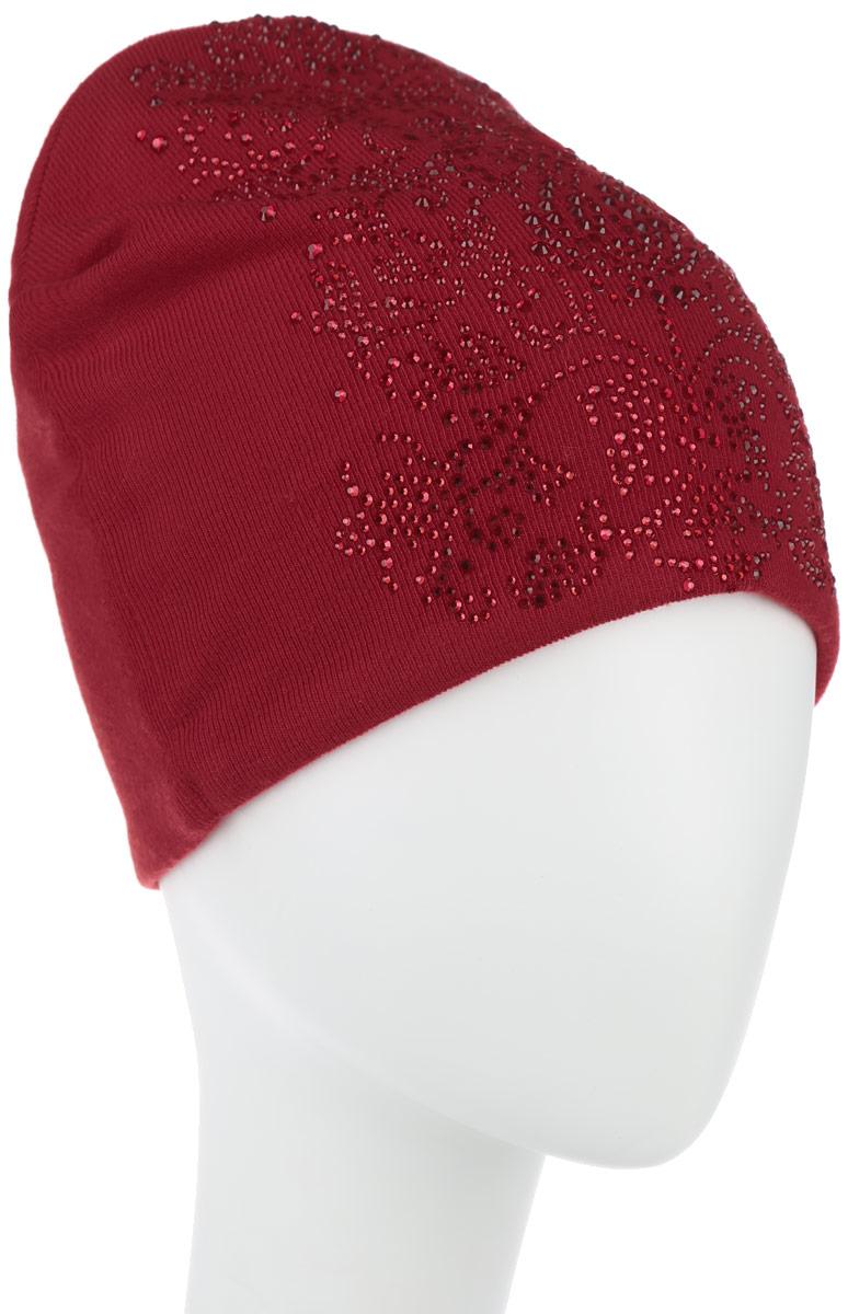 Шапка женская Обои 3. 3890_стразы38900Стильная женская шапка Level Pro Обои 3 дополнит ваш наряд и не позволит вам замерзнуть в холодное время года. Шапка наполовину выполнена из шерсти с добавлением полиэстера , что позволяет ей великолепно сохранять тепло и обеспечивает высокую эластичность и удобство посадки. Внутренняя сторона модели трикотажная. Изделие оформлено оригинальным цветочным принтом из блестящих страз. Такая шапка составит идеальный комплект с модной верхней одеждой, в ней вам будет уютно и тепло.