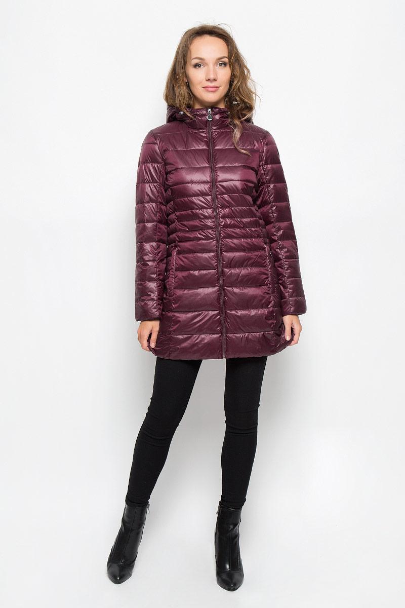 Куртка женская. Cp-126/673-6312Cp-126/673-6312Стильная женская куртка Baon на синтепоне, выполненная из 100% полиэстера отлично подойдет для прохладной погоды. Модель с несъемным капюшоном на кулиске и длинными рукавами застегивается на застежку-молнию. Снизу с внутренней стороны модель дополнена скрытой утягивающей резинкой. Спереди модель дополнена двумя прорезными карманами на застежках-молниях. Эта модная куртка послужит отличным дополнением к вашему гардеробу.