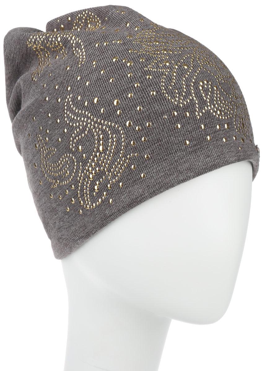 Шапка женская Зодиаки. 38903890Стильная женская шапка Level Pro Зодиаки дополнит ваш наряд и не позволит вам замерзнуть в холодное время года. Шапка наполовину выполнена из шерсти с добавлением полиэстера , что позволяет ей великолепно сохранять тепло и обеспечивает высокую эластичность и удобство посадки. Сзади шапка присборена. Оформлена модель аппликацией из металлических страз и на макушке дополнена большой стразой. Такая шапка составит идеальный комплект с модной верхней одеждой, в ней вам будет уютно и т