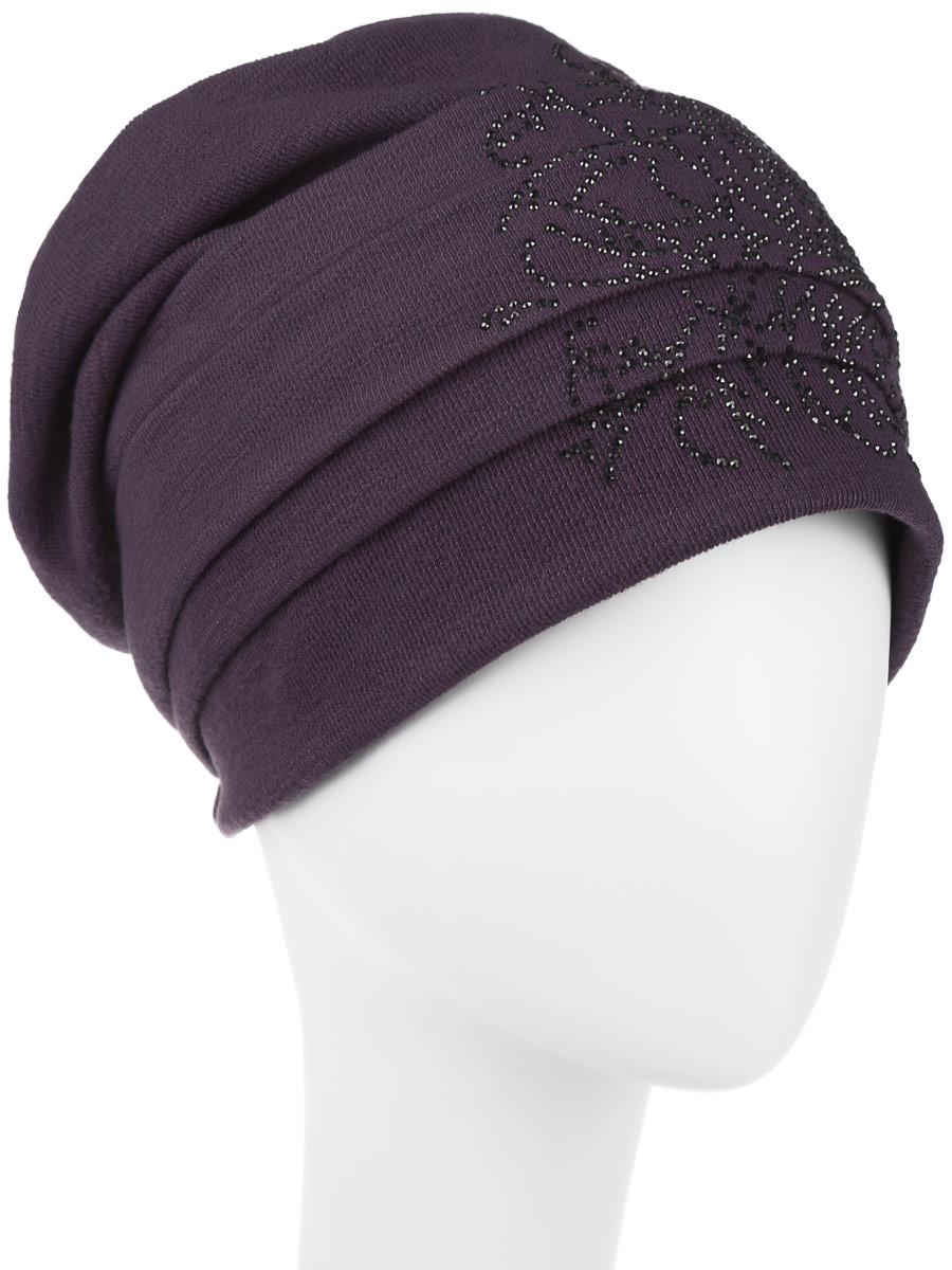 Шапка женская. 99431994315Стильная женская шапка Level Pro дополнит ваш наряд и не позволит вам замерзнуть в холодное время года. Шапка наполовину выполнена из шерсти с добавлением полиэстера , что позволяет ей великолепно сохранять тепло и обеспечивает высокую эластичность и удобство посадки. Внутренняя сторона модели флисовая. Изделие оформлено оригинальными тканевыми прострочками спереди и сзади. Дополнено цветочной выкладкой из блестящих страз. Такая шапка составит идеальный комплект с модной верхней одеждой, в ней вам будет уютно и тепло.