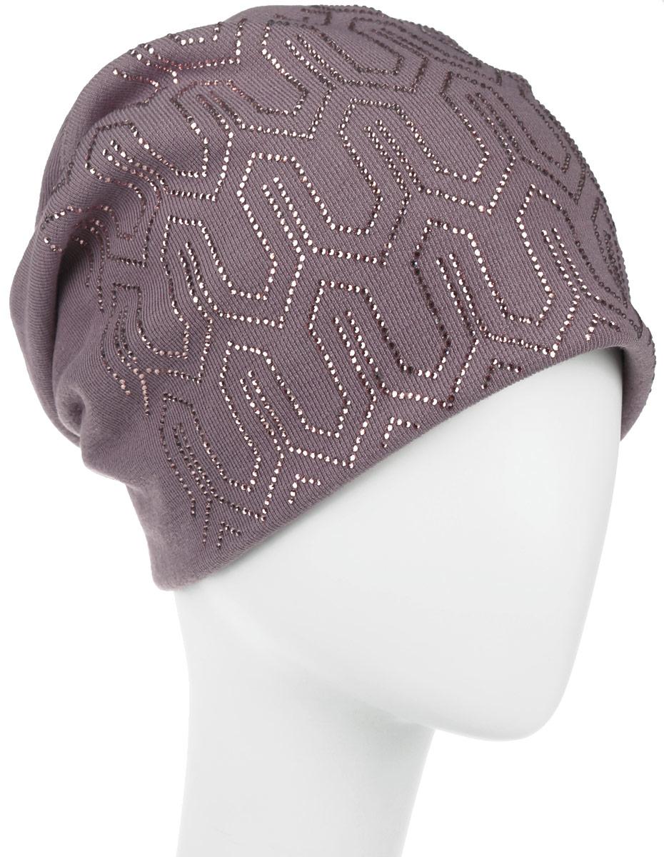 Шапка женская Октава. 994576994570Стильная женская шапка Level Pro Октава дополнит ваш наряд и не позволит вам замерзнуть в холодное время года. Шапка наполовину выполнена из шерсти с добавлением полиэстера , что позволяет ей великолепно сохранять тепло и обеспечивает высокую эластичность и удобство посадки. Внутренняя сторона модели флисовая. Удлиненное изделие оформлено контрастным узором из блестящих страз. Такая шапка составит идеальный комплект с модной верхней одеждой, в ней вам будет уютно.