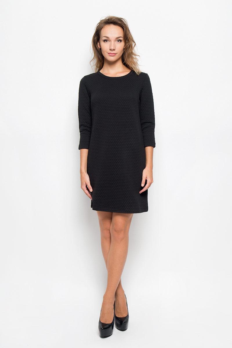 ПлатьеDK-117/1079-6342Элегантное платье Sela Casual выполнено из высококачественного плотного трикотажа. Такое платье обеспечит вам комфорт и удобство при носке и непременно вызовет восхищение у окружающих. Модель длины мини с рукавами 3/4 и круглым вырезом горловины выгодно подчеркнет все достоинства вашей фигуры. Изысканное платье создаст обворожительный и неповторимый образ. Это модное и комфортное платье станет превосходным дополнением к вашему гардеробу, оно подарит вам удобство и поможет подчеркнуть ваш вкус и неповторимый стиль.