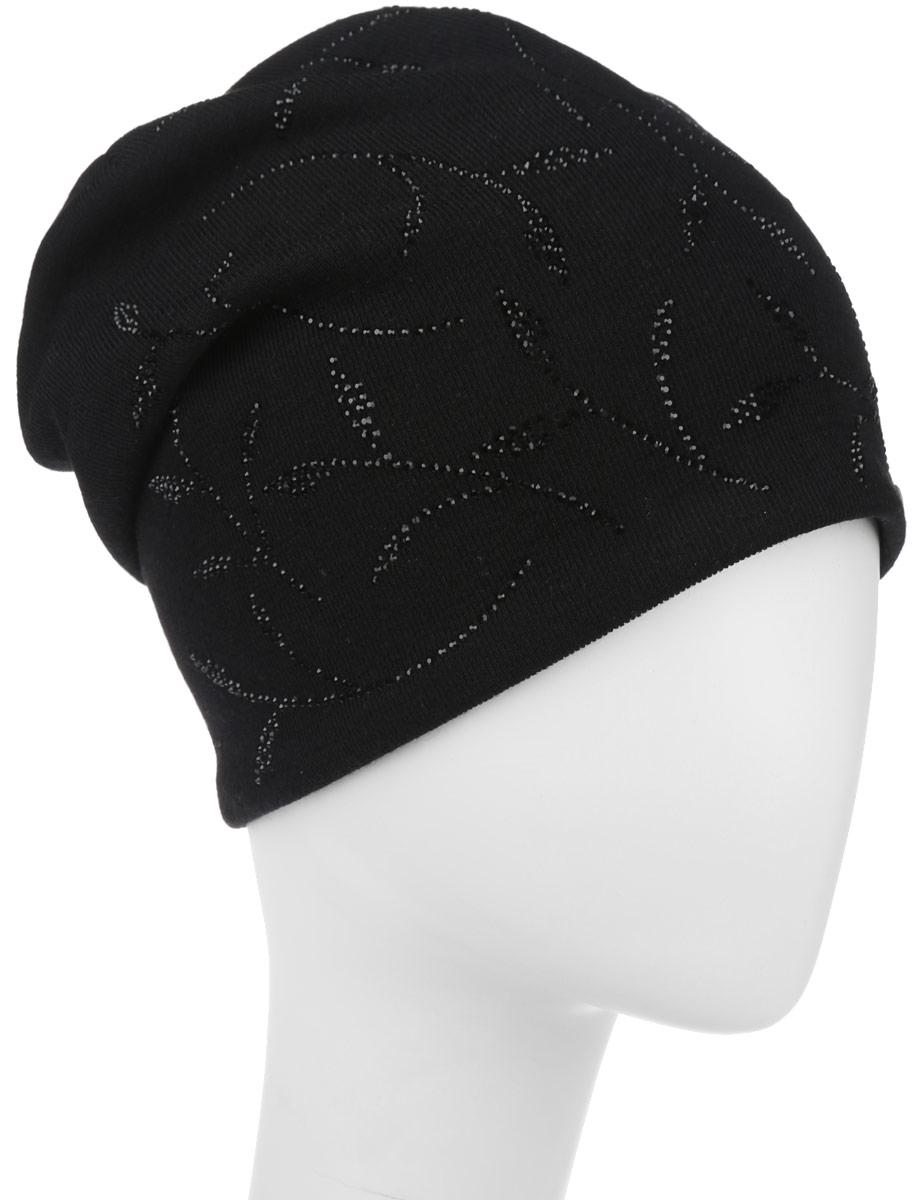 Шапка женская. 390859390859Стильная женская шапка Level Pro дополнит ваш наряд и не позволит вам замерзнуть в холодное время года. Шапка наполовину выполнена из шерсти с добавлением полиэстера , что позволяет ей великолепно сохранять тепло и обеспечивает высокую эластичность и удобство посадки. Внутренняя сторона модели трикотажная. Изделие оформлено оригинальным принтом из блестящих страз, дополнена пластиной с логотипом бренда. Такая шапка составит идеальный комплект с модной верхней одеждой, в ней вам будет уютно и тепло.