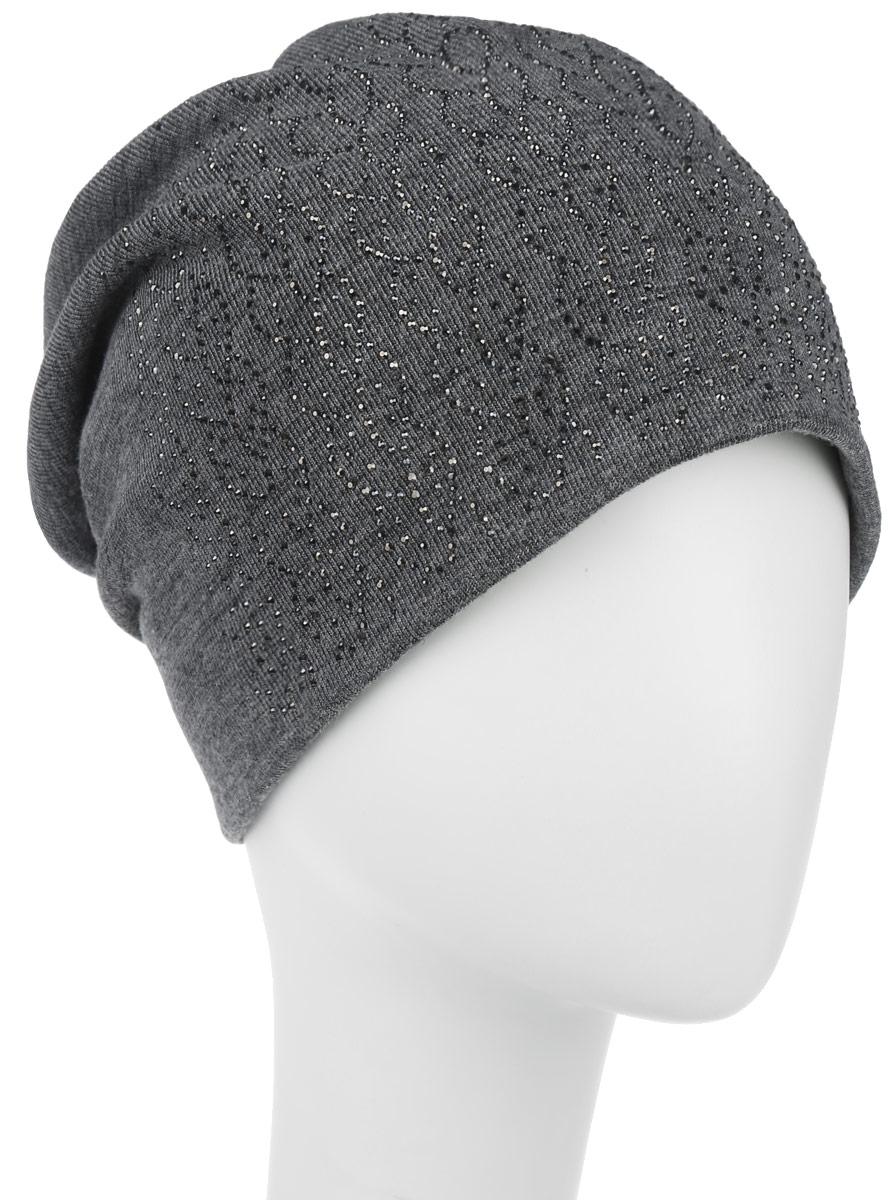 Шапка женская. 996361996361Стильная женская шапка Level Pro дополнит ваш наряд и не позволит вам замерзнуть в холодное время года. Шапка наполовину выполнена из шерсти с добавлением полиэстера, что позволяет ей великолепно сохранять тепло и обеспечивает высокую эластичность и удобство посадки. Сзади шапка присборена. Внутри - флисовая подкладка. Оформлена модель аппликацией из страз и на макушке дополнена большой стразой. Такая шапка составит идеальный комплект с модной верхней одеждой.
