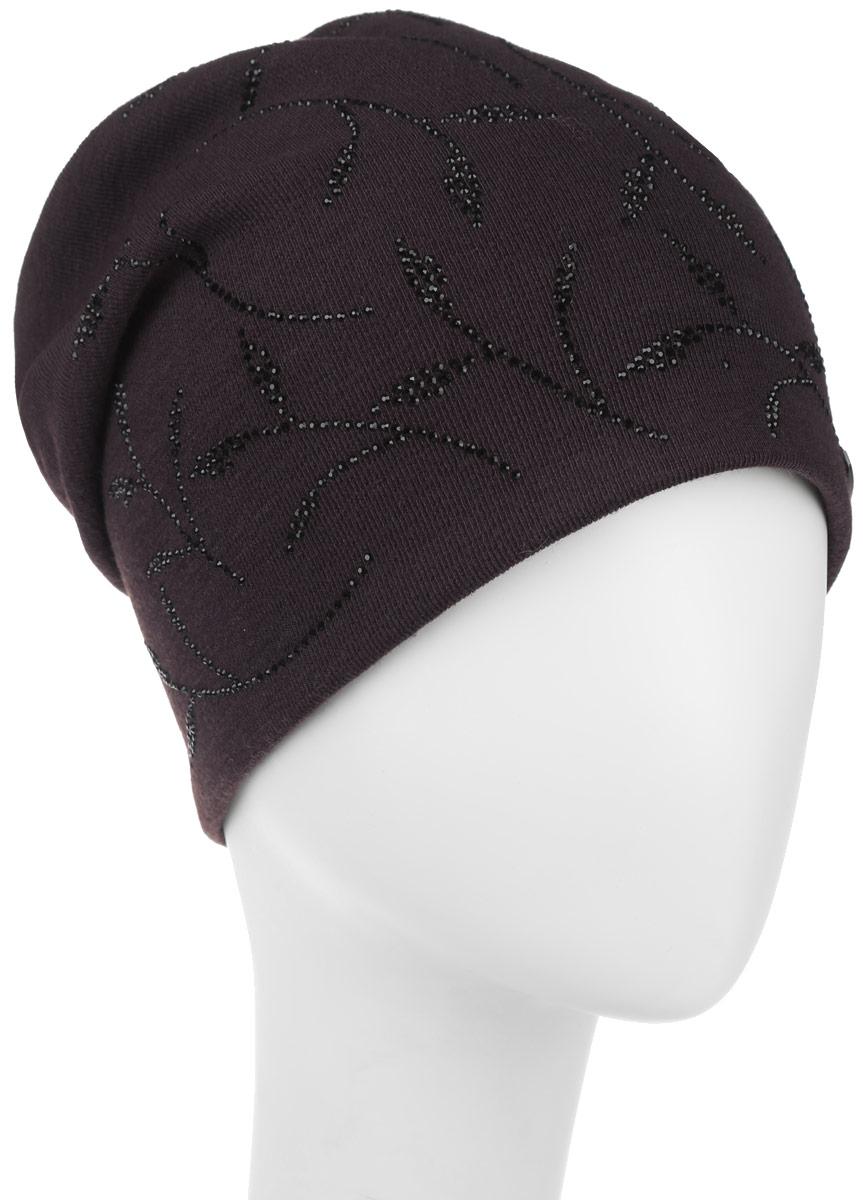 Шапка женская. 391815391815Стильная женская шапка Level Pro дополнит ваш наряд и не позволит вам замерзнуть в холодное время года. Шапка наполовину выполнена из шерсти с добавлением полиэстера , что позволяет ей великолепно сохранять тепло и обеспечивает высокую эластичность и удобство посадки. Внутренняя сторона модели трикотажная. Изделие оформлено оригинальным принтом из блестящих страз, дополнена пластиной с логотипом бренда. Такая шапка составит идеальный комплект с модной верхней одеждой, в ней вам будет уютно и тепло.