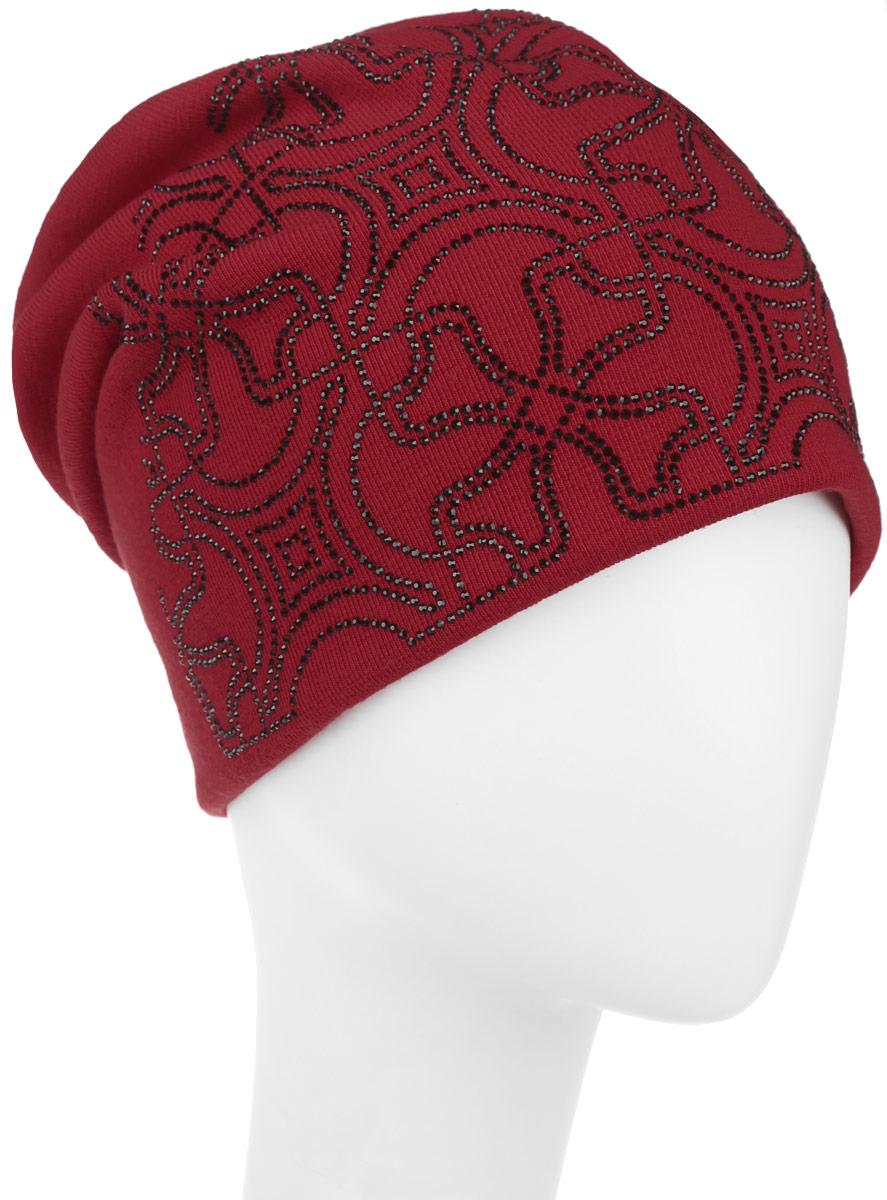 Шапка женская. 994541994541Стильная женская шапка Level Pro дополнит ваш наряд и не позволит вам замерзнуть в холодное время года. Шапка наполовину выполнена из шерсти с добавлением полиэстера, что позволяет ей великолепно сохранять тепло и обеспечивает высокую эластичность и удобство посадки. Сзади шапка присборена. Внутри - флисовая подкладка. Оформлена модель аппликацией из страз и на макушке дополнена большой стразой. Такая шапка составит идеальный комплект с модной верхней одеждой.