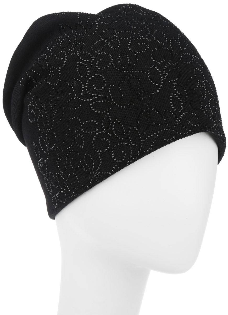 Шапка женская. 9943_стразы994382Стильная женская шапка дополнит ваш наряд и не позволит вам замерзнуть в холодное время года. Шапка наполовину выполнена из шерсти с добавлением полиэстера , что позволяет ей великолепно сохранять тепло и обеспечивает высокую эластичность и удобство посадки. Внутренняя сторона модели флисовая. Удлиненное изделие оформлено оригинальным принтом из блестящих страз и на макушке шапки прикреплен небольшой блестящий ромбик. Такая шапка составит идеальный комплект с модной верхней одеждой, в ней вам будет уютно и тепло.