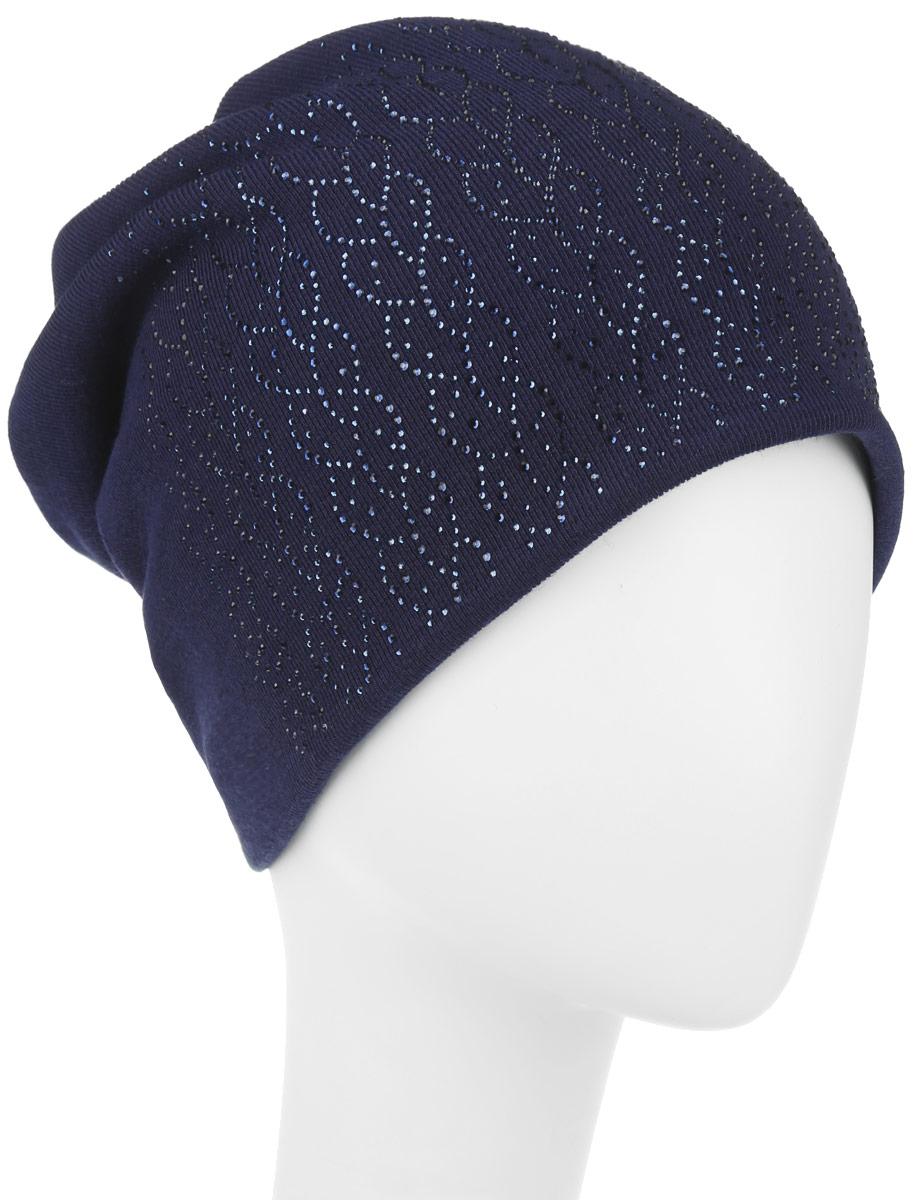Шапка женская. 996356996356Стильная женская шапка Level Pro дополнит ваш наряд и не позволит вам замерзнуть в холодное время года. Шапка наполовину выполнена из шерсти с добавлением полиэстера, что позволяет ей великолепно сохранять тепло и обеспечивает высокую эластичность и удобство посадки. Сзади шапка присборена. Внутри - флисовая подкладка. Оформлена модель аппликацией из страз и на макушке дополнена большой стразой. Такая шапка составит идеальный комплект с модной верхней одеждой.