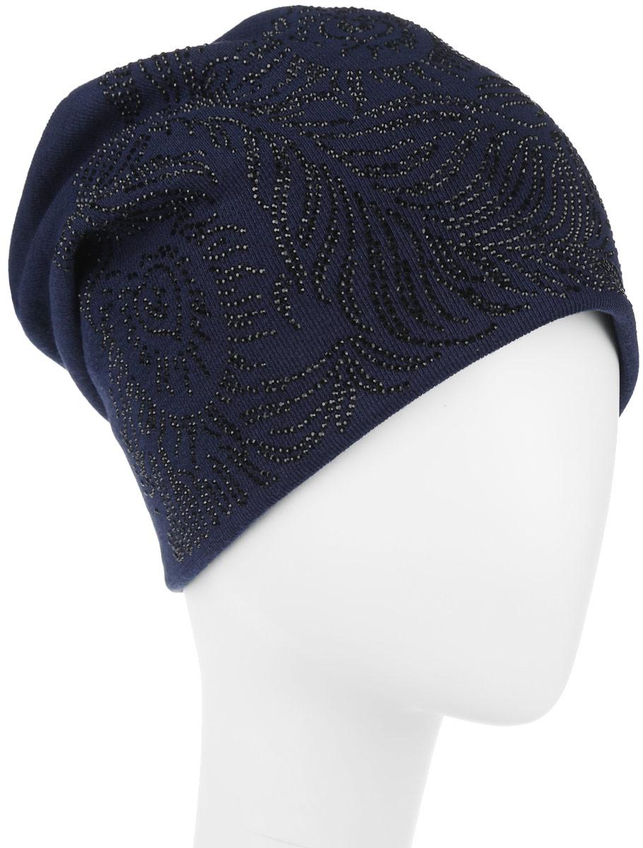 Шапка женская. 994544994544Стильная женская шапка Level Pro дополнит ваш наряд и не позволит вам замерзнуть в холодное время года. Шапка наполовину выполнена из шерсти с добавлением полиэстера, что позволяет ей великолепно сохранять тепло и обеспечивает высокую эластичность и удобство посадки. Сзади шапка присборена. Внутри - флисовая подкладка. Оформлена модель аппликацией из страз и на макушке дополнена большой стразой. Такая шапка составит идеальный комплект с модной верхней одеждой.