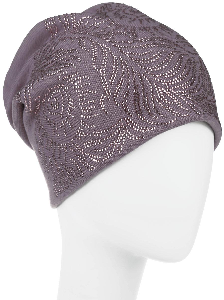 Шапка женская. 994546994546Стильная женская шапка Level Pro дополнит ваш наряд и не позволит вам замерзнуть в холодное время года. Шапка наполовину выполнена из шерсти с добавлением полиэстера, что позволяет ей великолепно сохранять тепло и обеспечивает высокую эластичность и удобство посадки. Сзади шапка присборена. Оформлена модель аппликацией из страз и на макушке дополнена большой стразой. Внутри - флисовая подкладка. Такая шапка составит идеальный комплект с модной верхней одеждой.