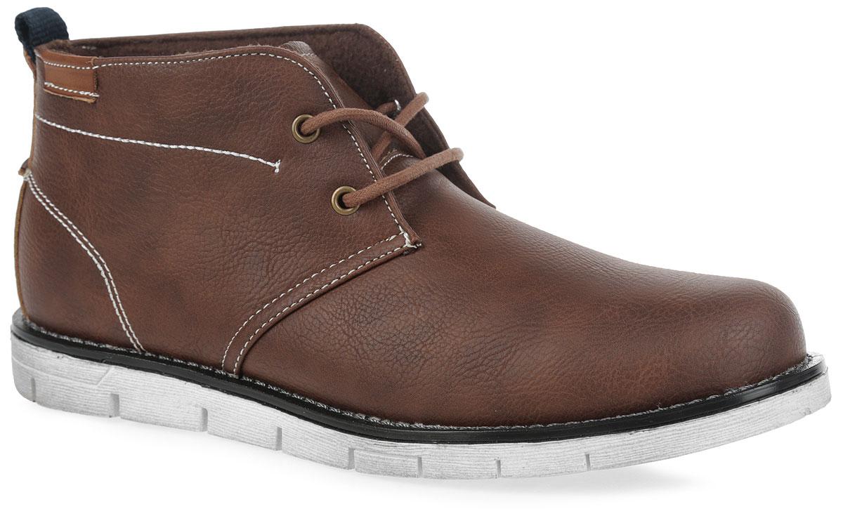 48-657F-17w-01-1Стильные ботинки от фирмы Patrol не оставят вас равнодушным благодаря своему дизайну и практичности. Обувь изготовлена из качественной искусственной кожи зернистой текстуры. Модель оформлена декоративной прострочкой. Язычок оформлен тисненой надписью с названием фирмы. На ноге модель фиксируется с помощью шнурков. Ярлычок на заднике упростит надевание модели. Внутренняя поверхность и стелька выполнены из флиса. Подошва выполнена из термопластичного материала, а ее рифление гарантирует отличное сцепление с любой поверхностью. Такие модные и удобные ботинки займут достойное место в вашем гардеробе.